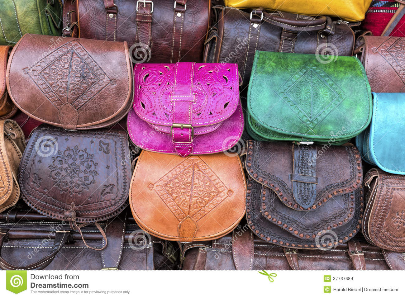 Handmade Leather Bags, Morocco Stock Images - Image: 37737684