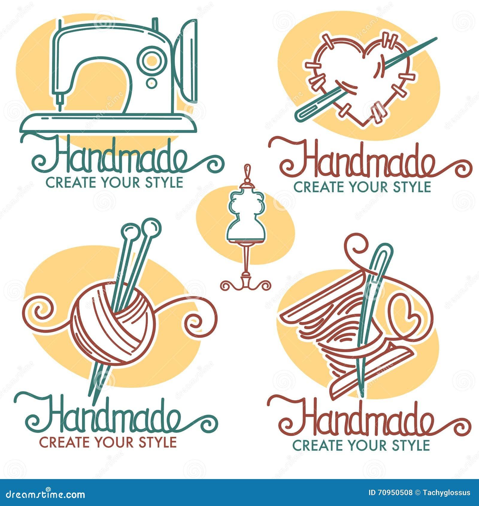 Handmade Logo Stock Vector Image 70950508