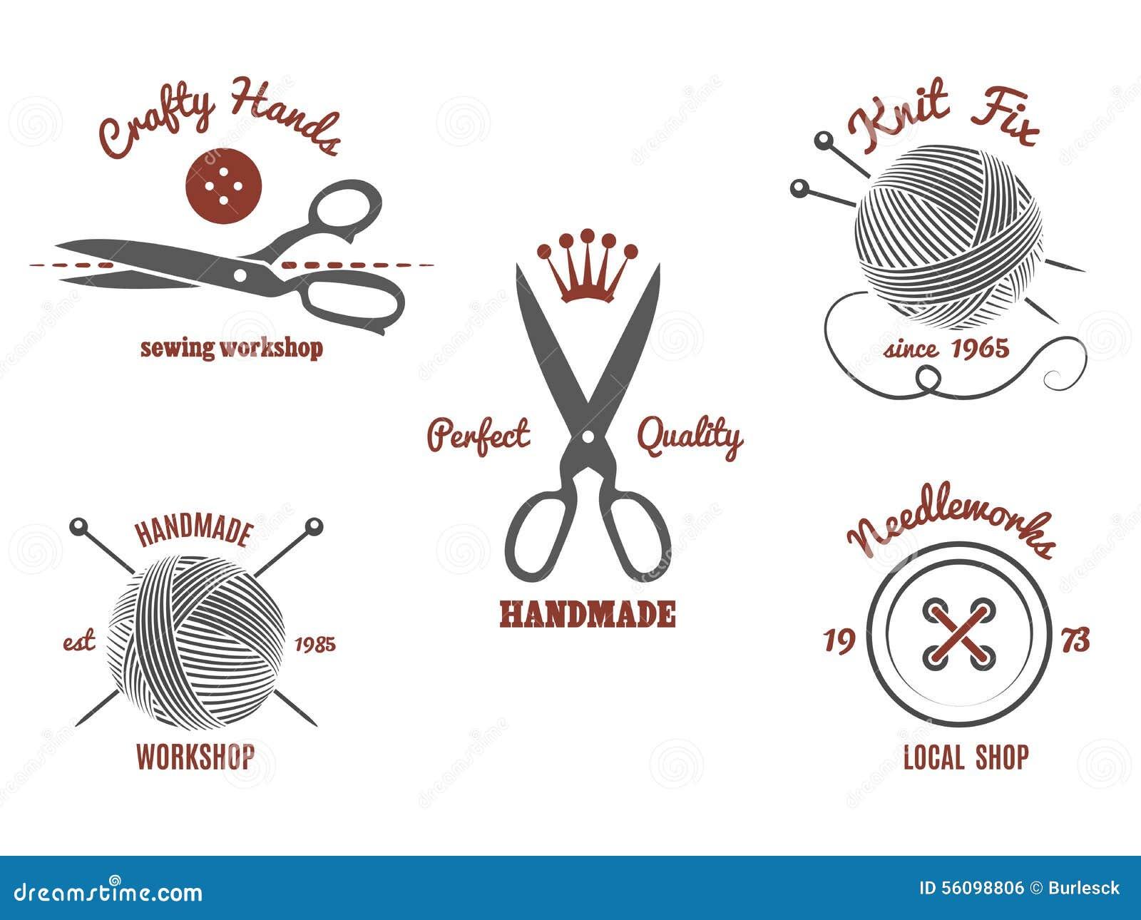 Handmade Logos Stock Vector Image 56098806