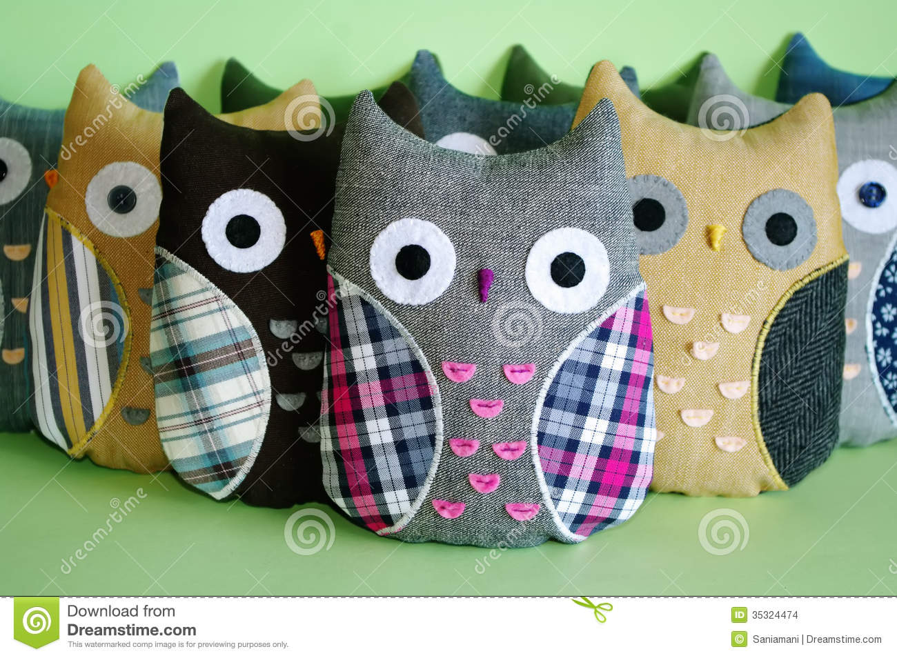 Handmade Owl Toys Stock Images - Image: 35324474