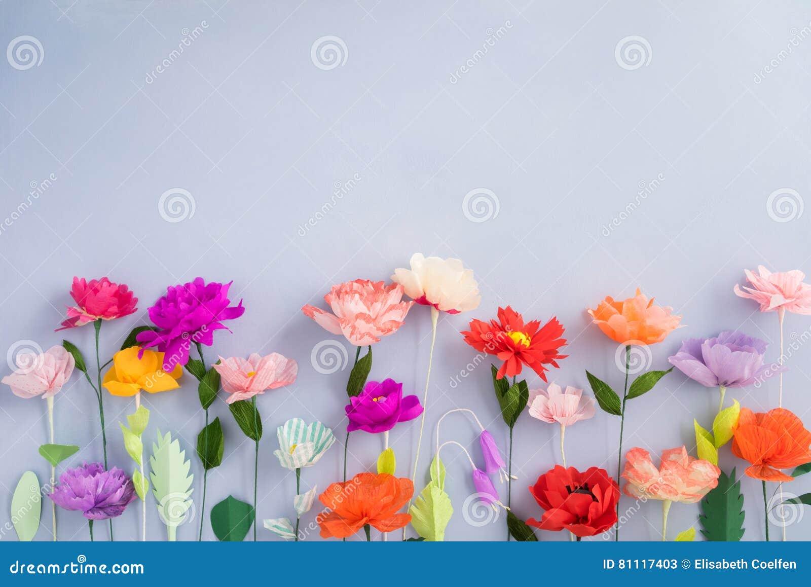 Handmade paper flowers stock image image of handicraft 81117403 download handmade paper flowers stock image image of handicraft 81117403 mightylinksfo