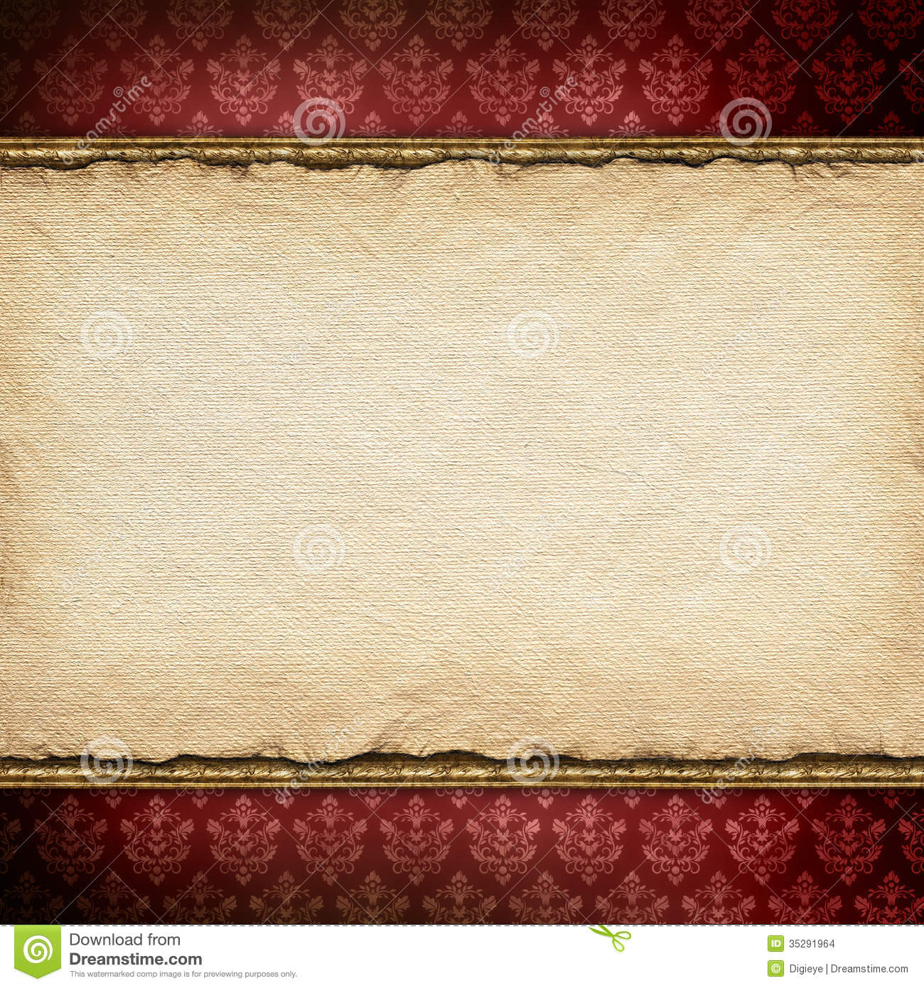 handmade paper sheet on patterned background stock photo