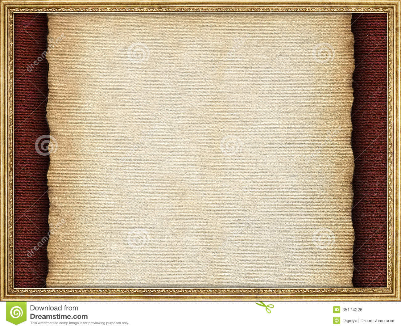 Handmade Paper Sheet And Picture Frame Stock Photo - Image of ...