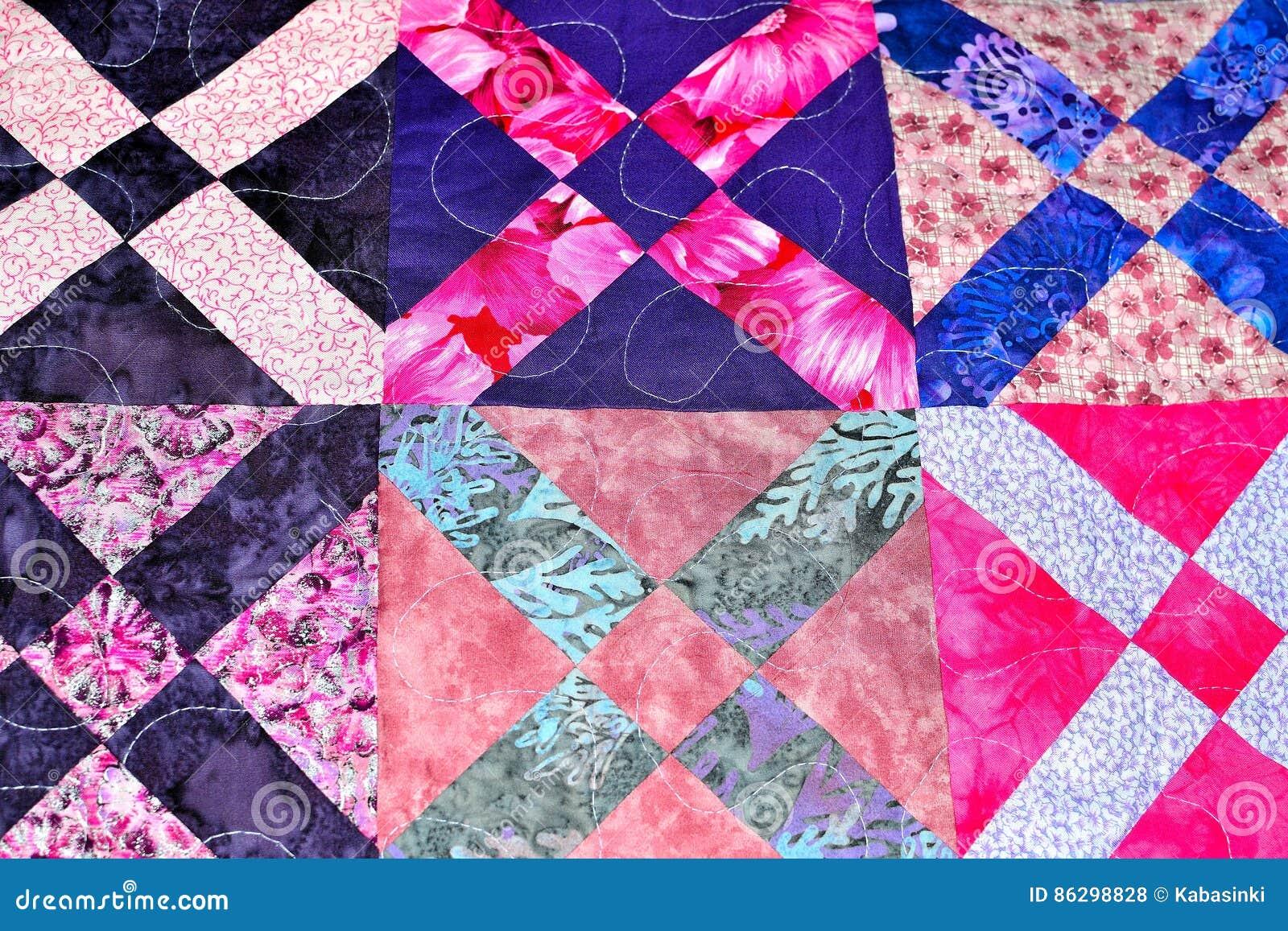 Quilt Patchwork Texture Vector Illustration