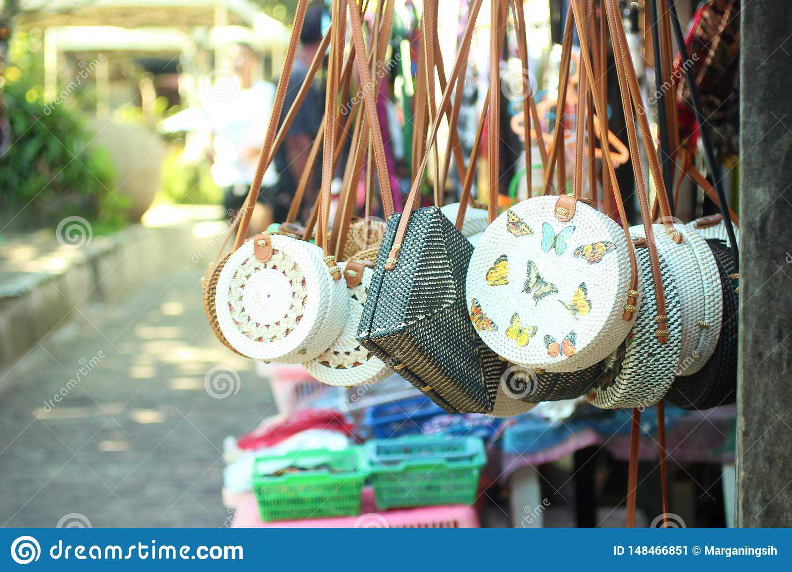 Balinese bags and souvenirs