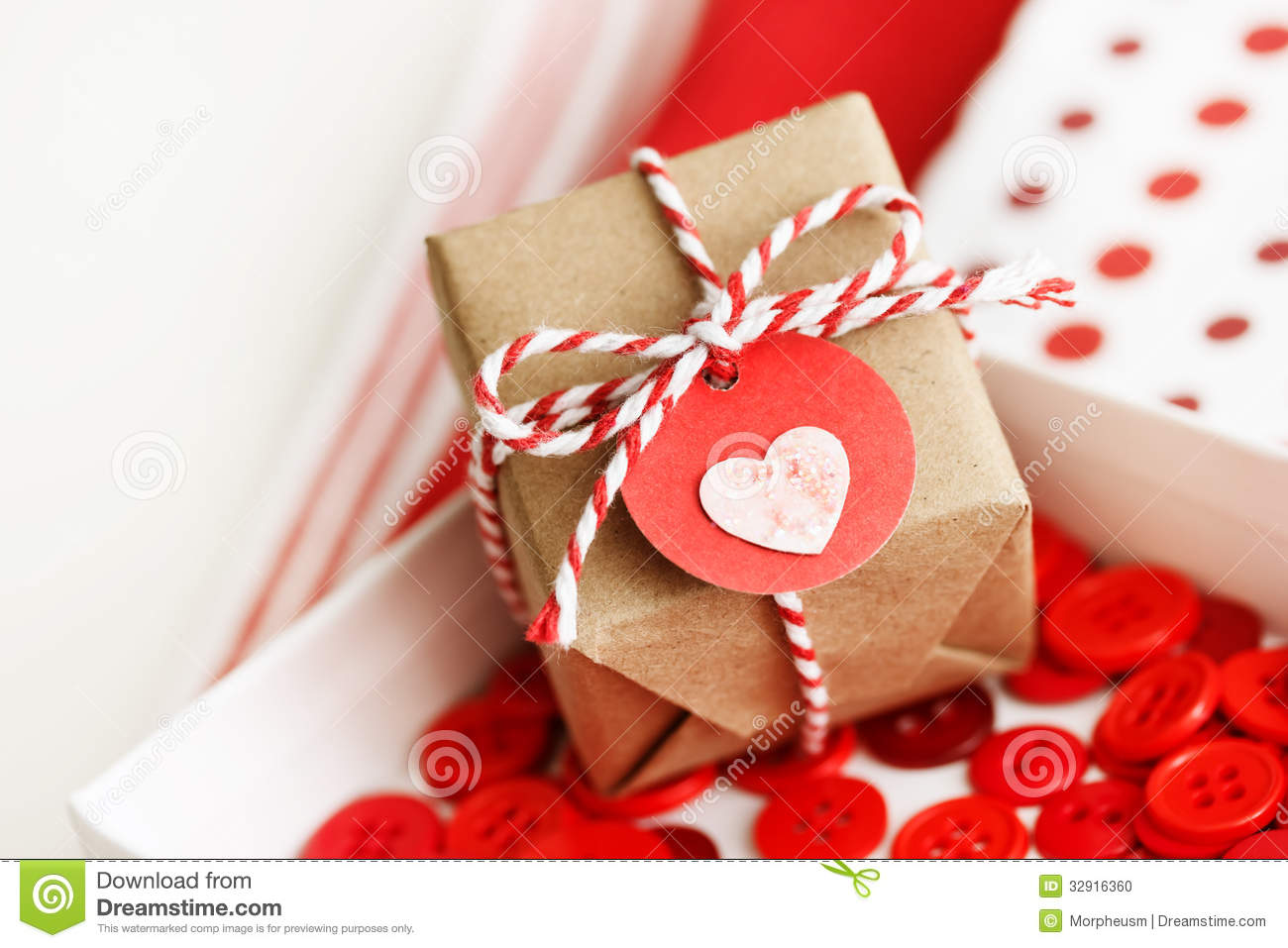 Handmade Small Gift Box With Heart Stock Photo Image Of Christmas