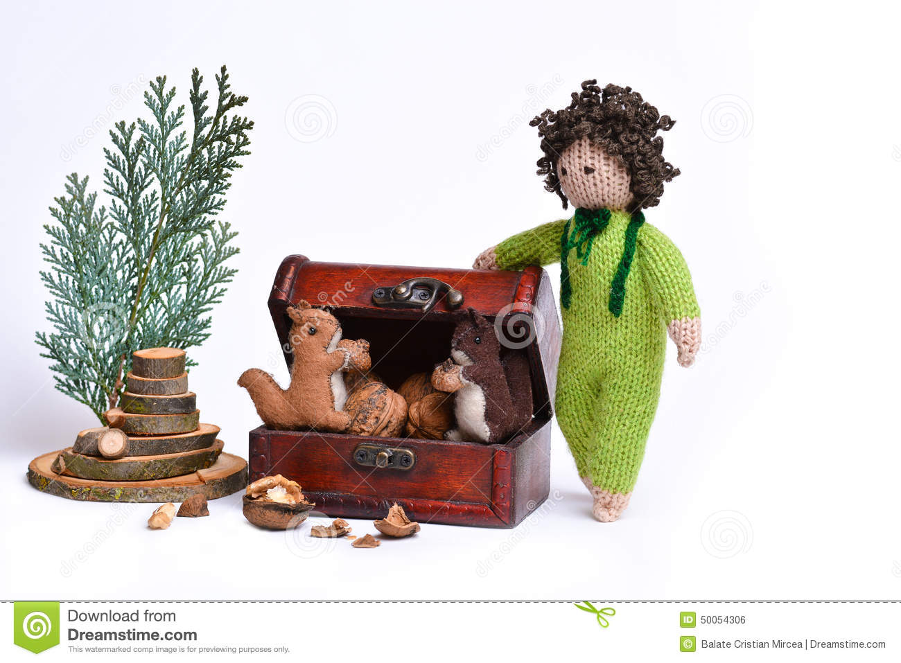 Handmade Squirrels And A Boy Toys Stock Photo Image Of Puppet