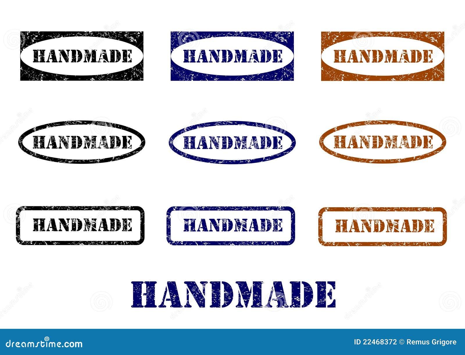 Handmade Stamps - Cdr Format Stock Vector - Illustration of