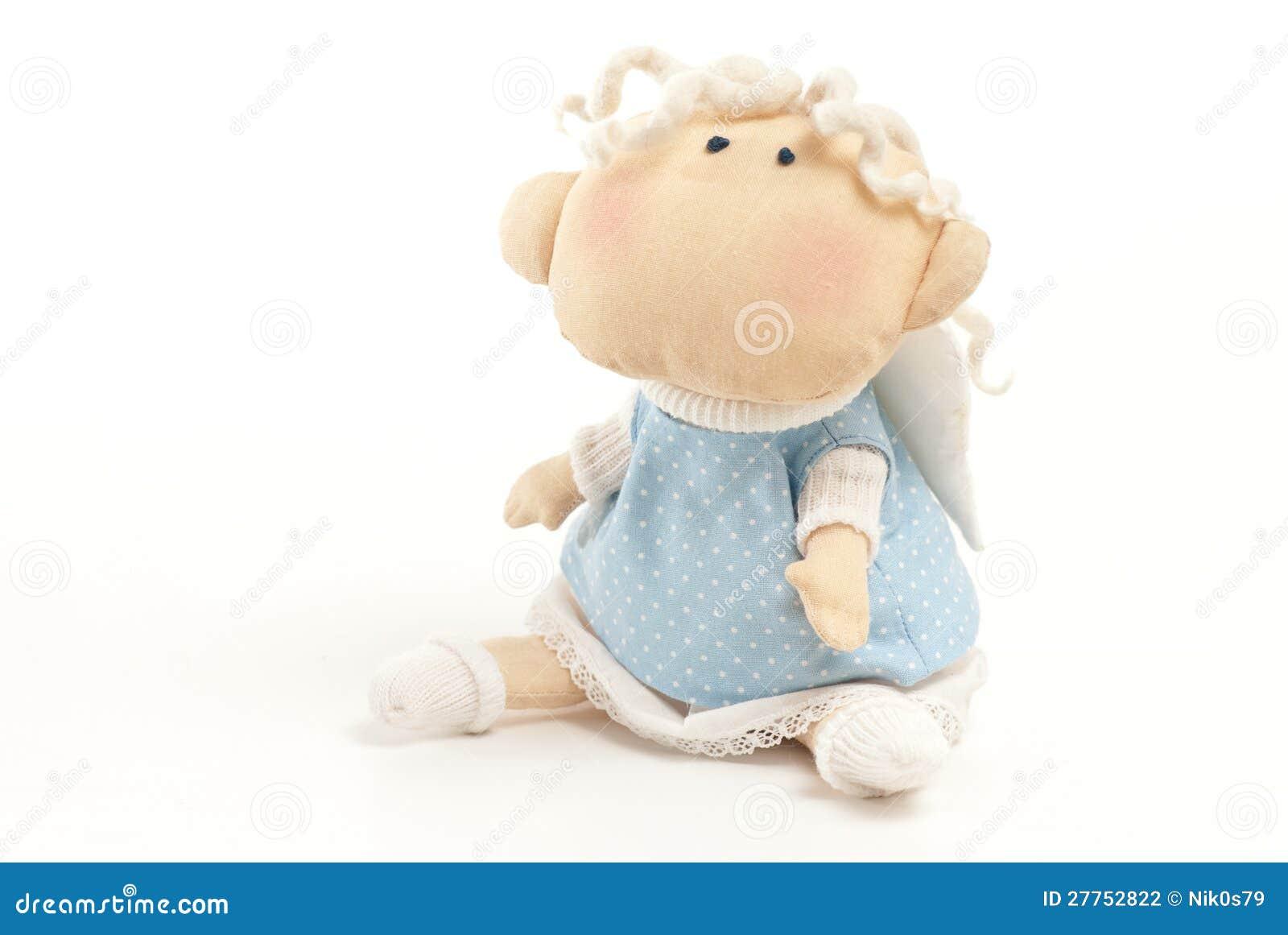Little Angel Toys : Handmade toy angel boy stock photography image