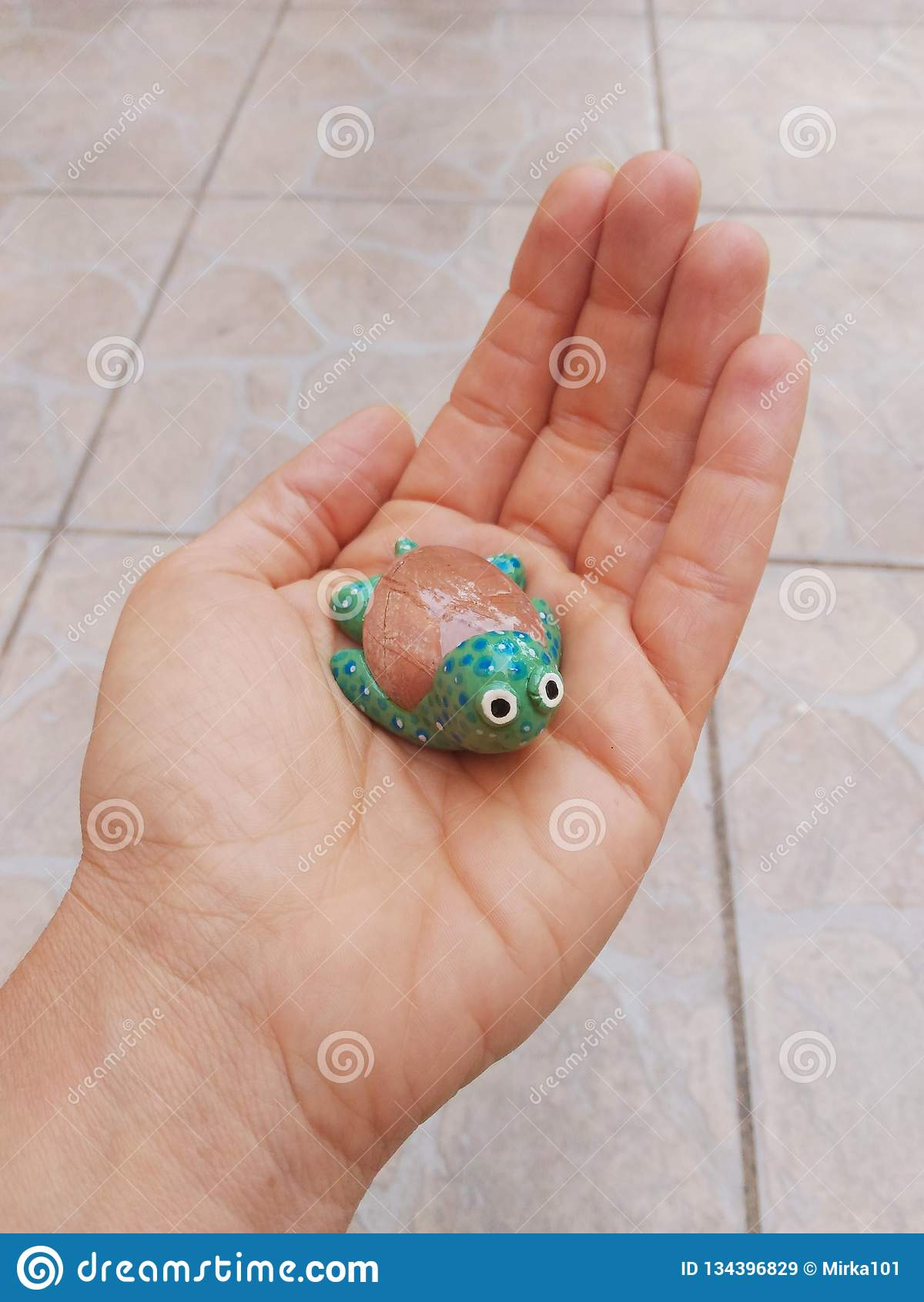 Handmade Turtle Art And Crafts Stock Image Image Of Made Little 134396829