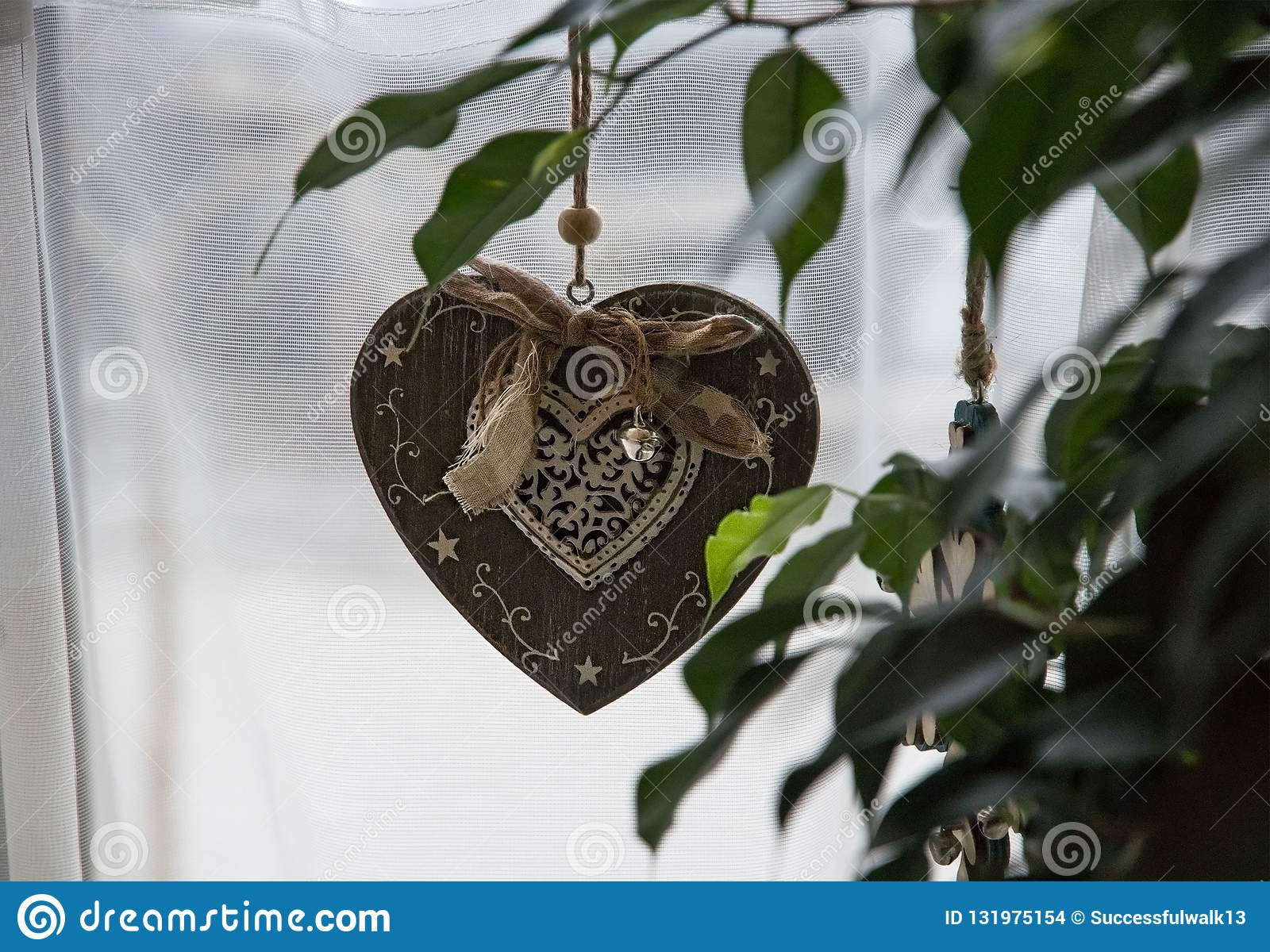 Pendant decoration retro heart