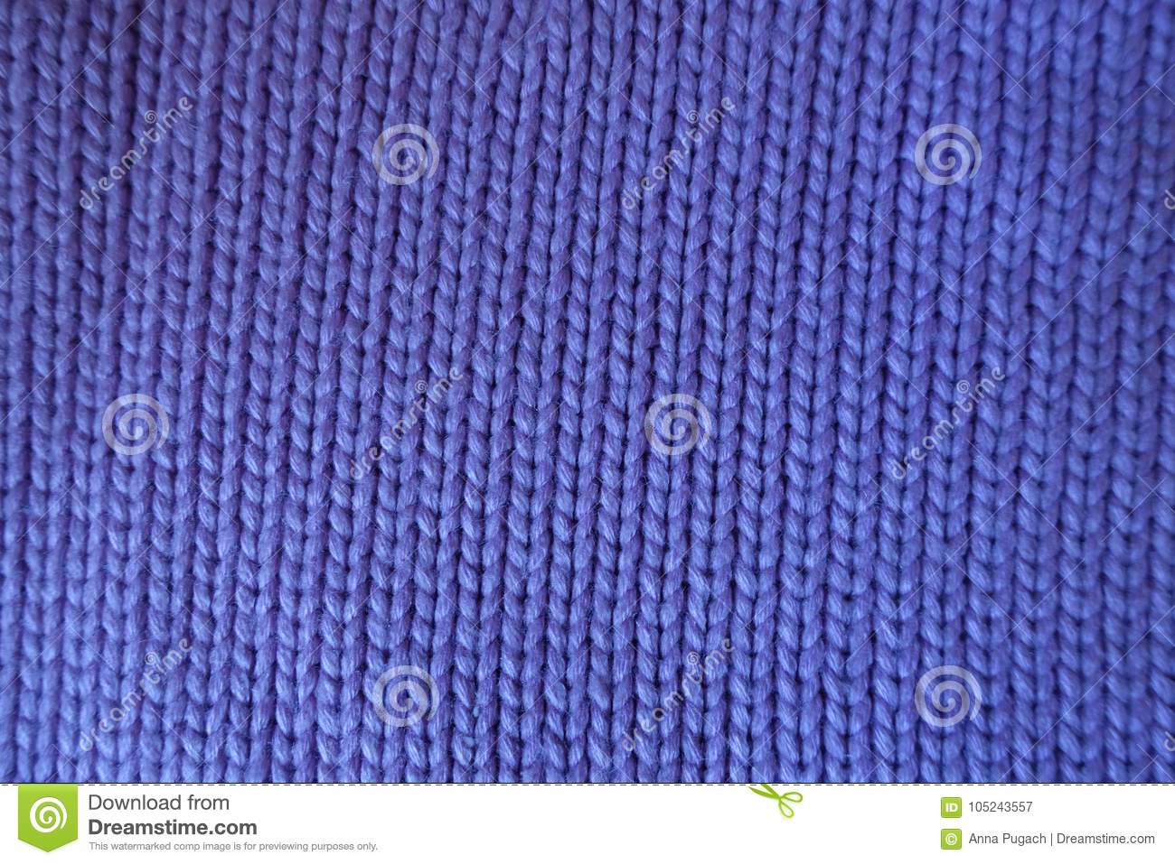 Handmade Violet Plain Knit Stitch Fabric Stock Image Image Of Knit
