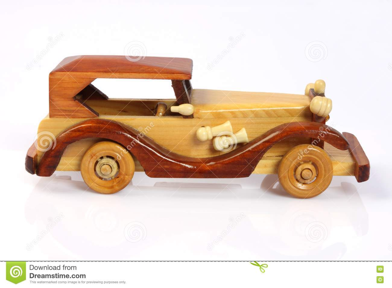 Handmade Wooden Toy Car Royalty Free Stock Photo - Image: 18543045
