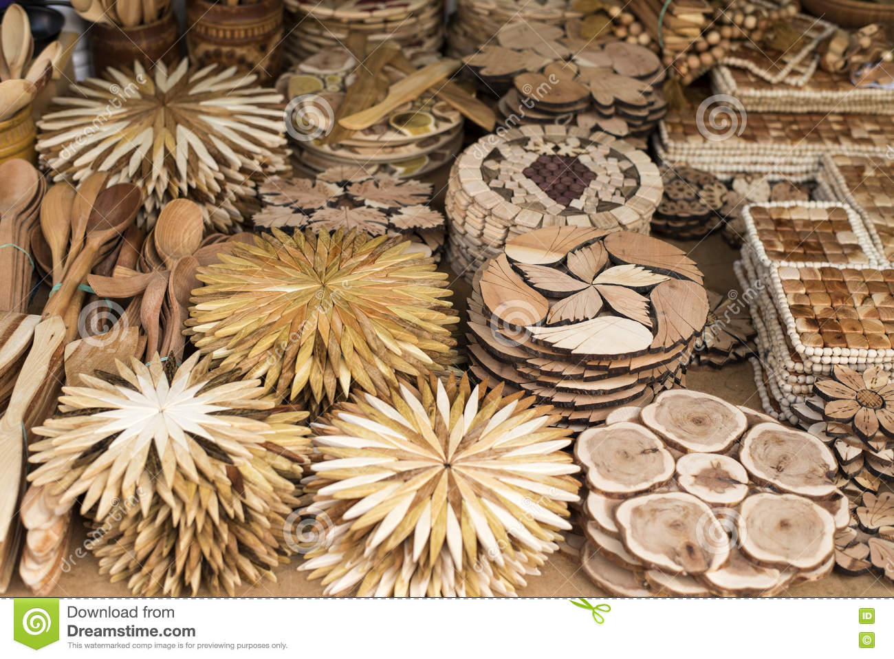 Marvelous Handmade Wooden Utensils Stock Photo Image Of Carving Download Free Architecture Designs Grimeyleaguecom