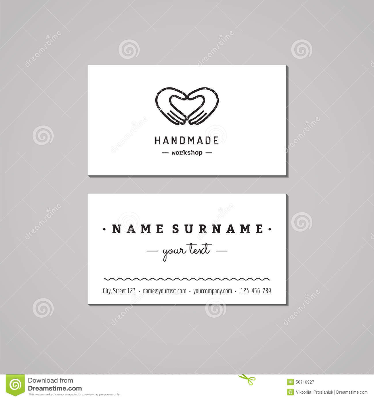 Handmade Workshop Business Card Design Concept Handmade Workshop