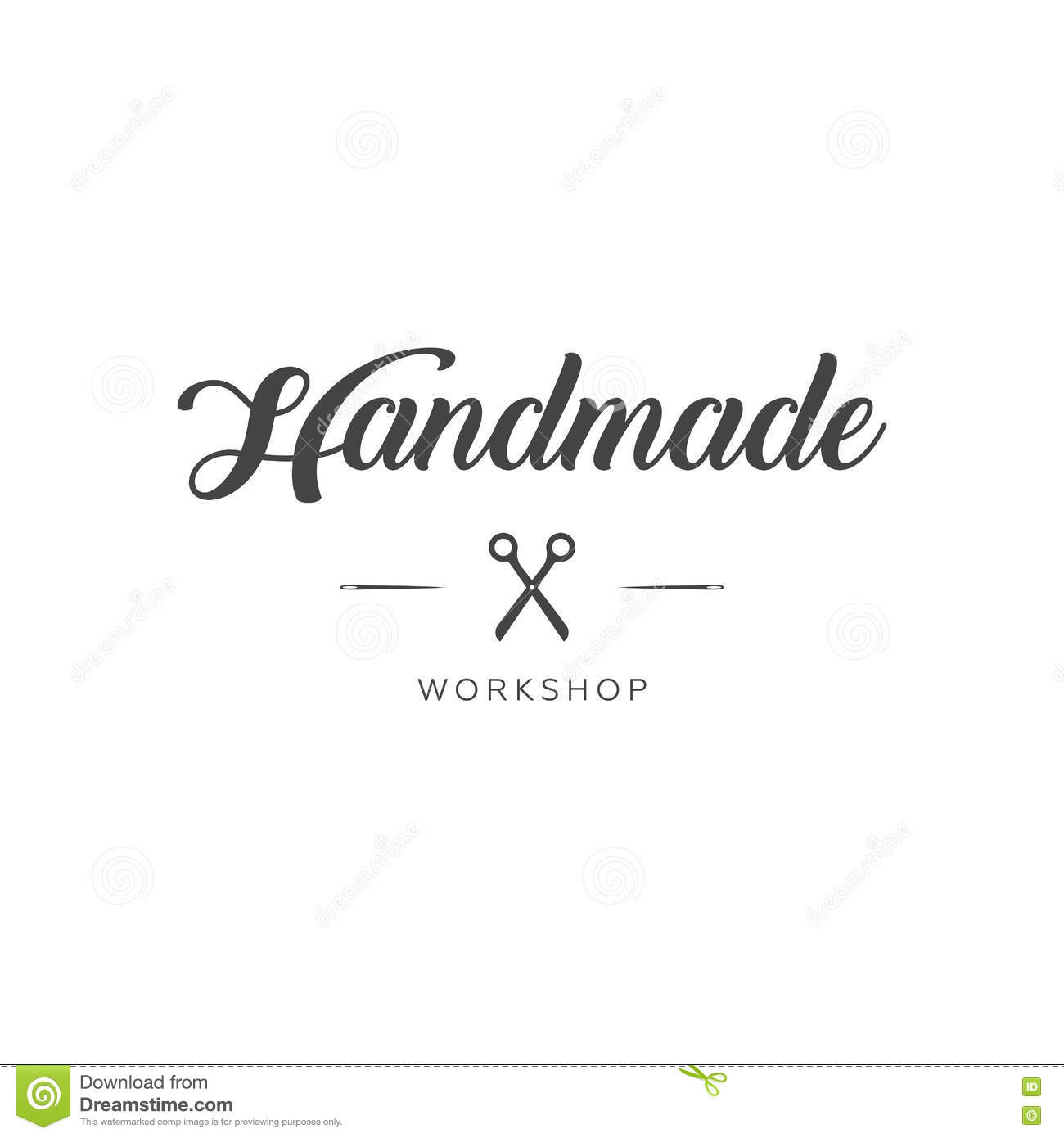 Handmade Workshop Logo Vintage Stock Illustration Illustration Of