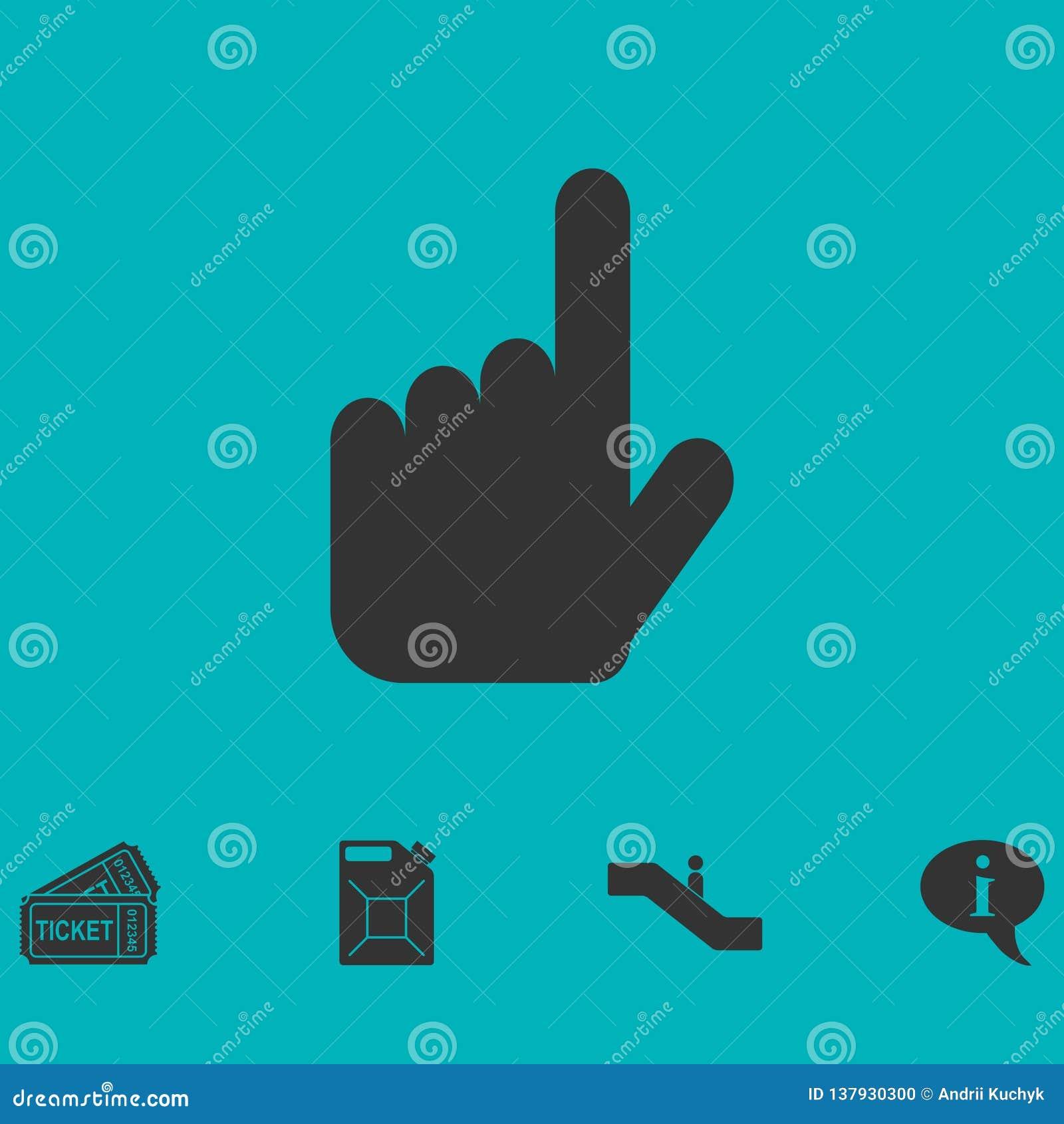 Handmarkörsymbol framlänges