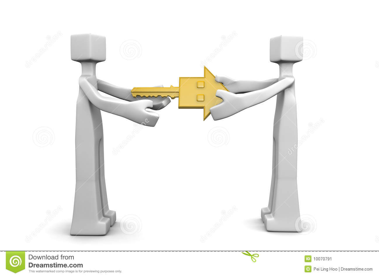 Handover House Key Business Deal Concept Stock Illustration