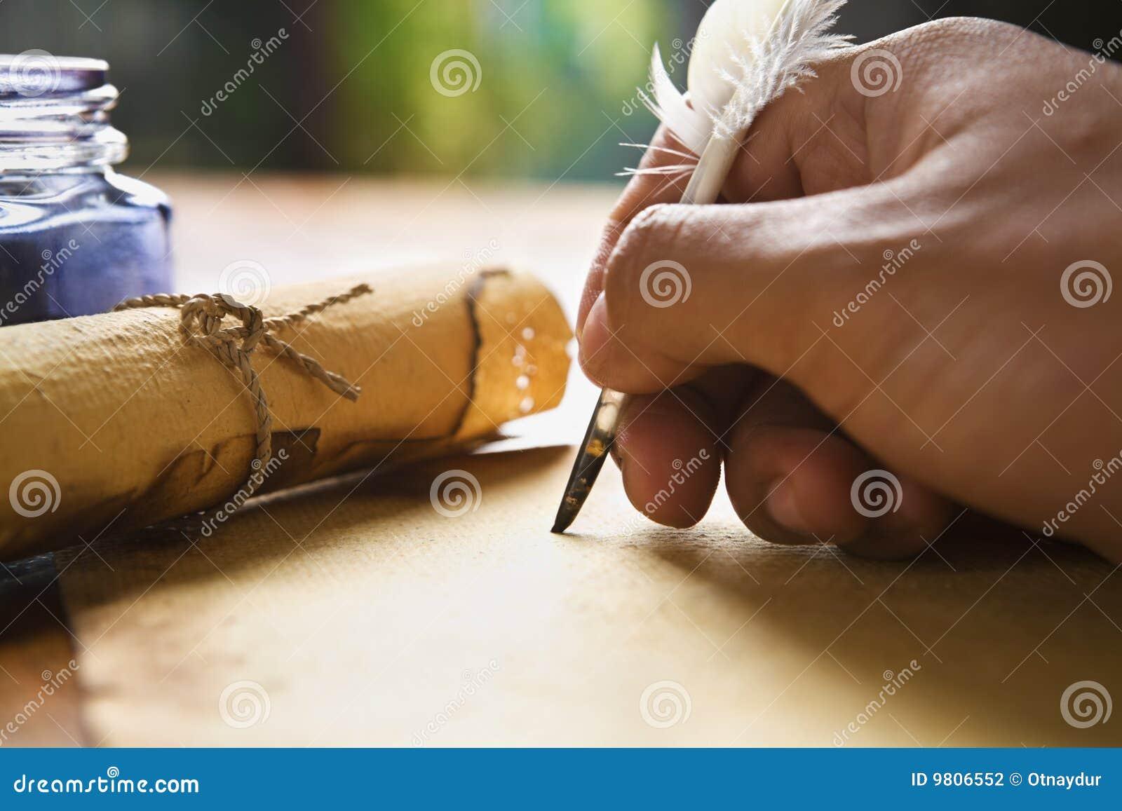 Handpennquill genom att använda writing