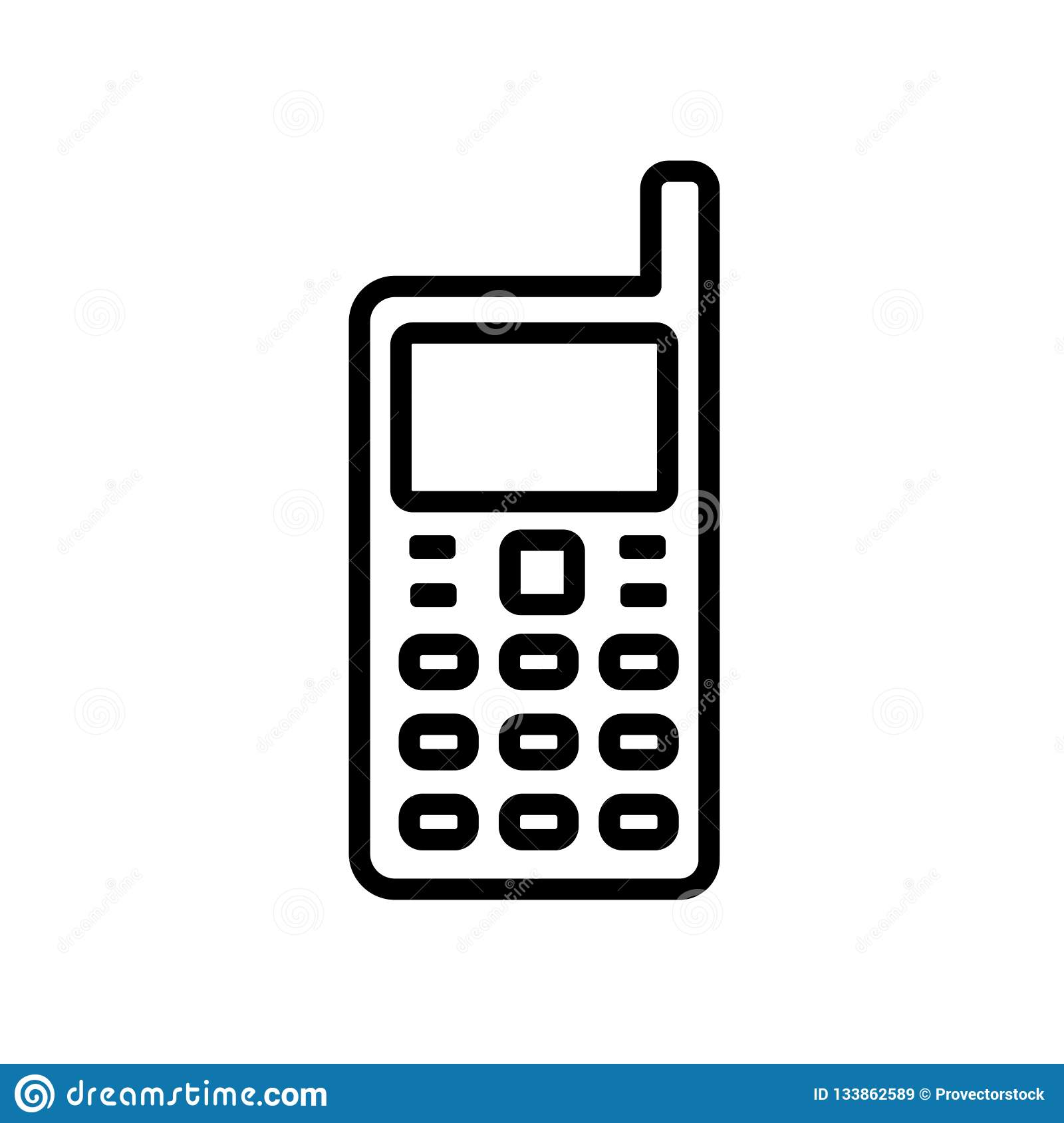 Handphone Icon Isolated On White Background Stock Vector