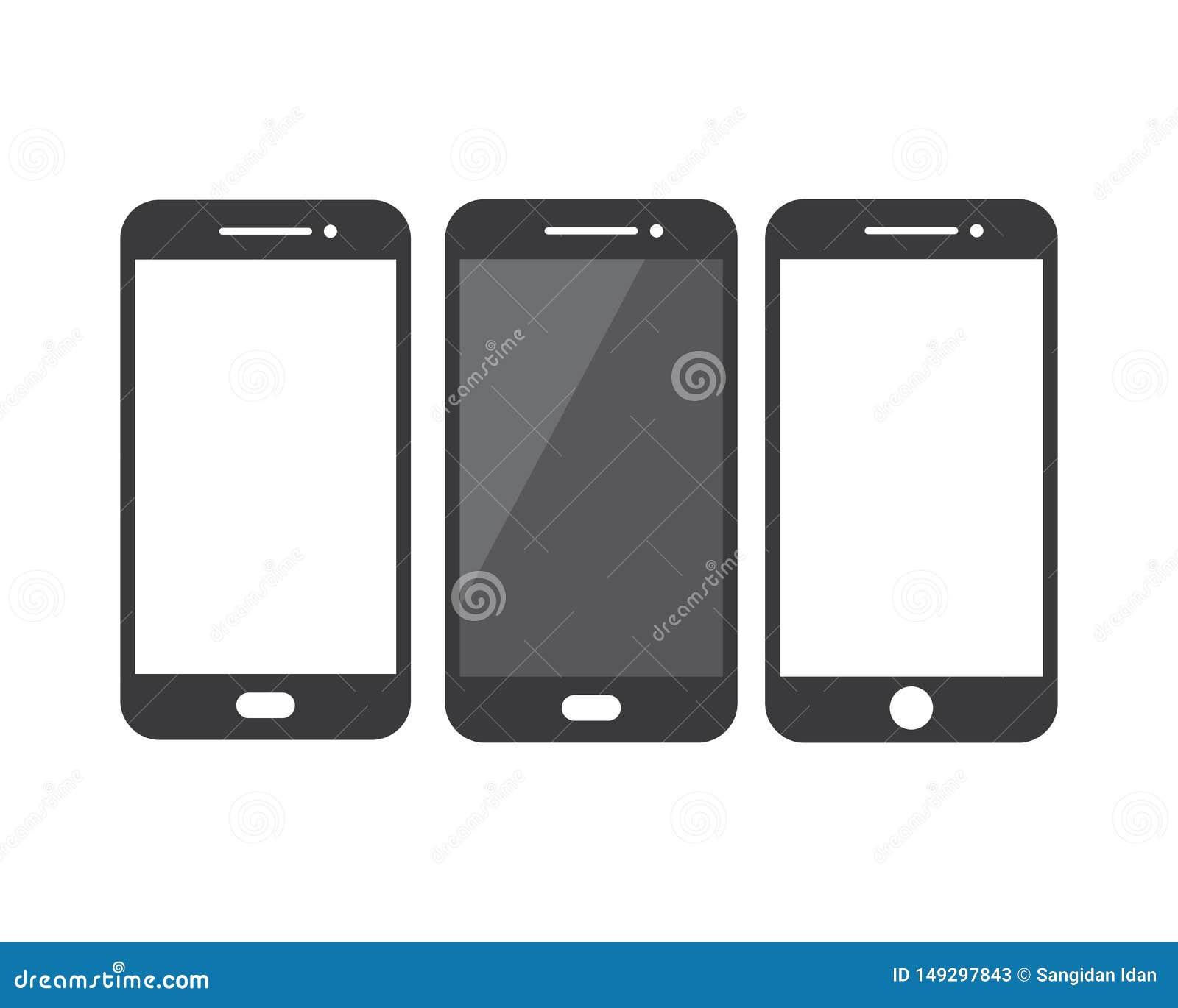 Handphone Logo Icon Vector Illustration Design Stock Vector