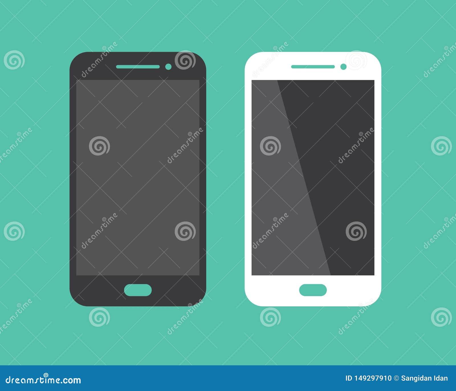 Handphone Logo Icon Vector Illustration Design Stock ...