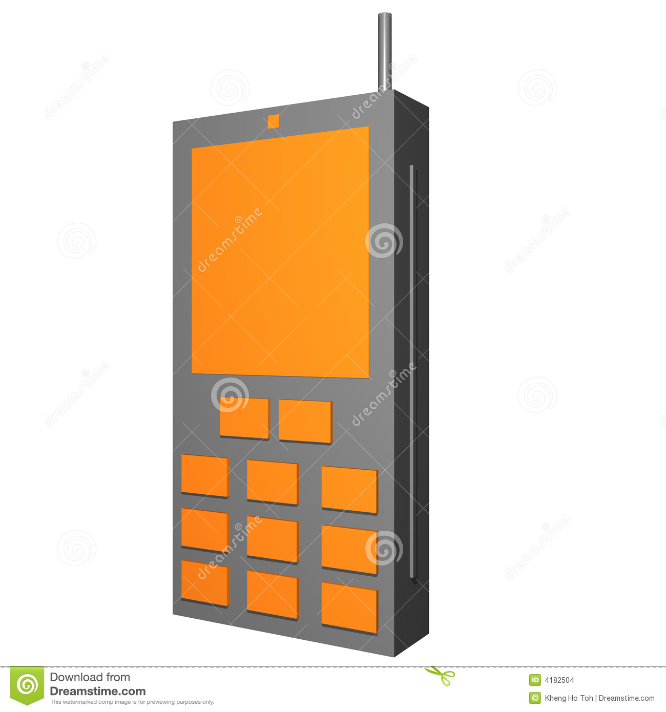Handphone Object For Diagram And Presentation Stock Images