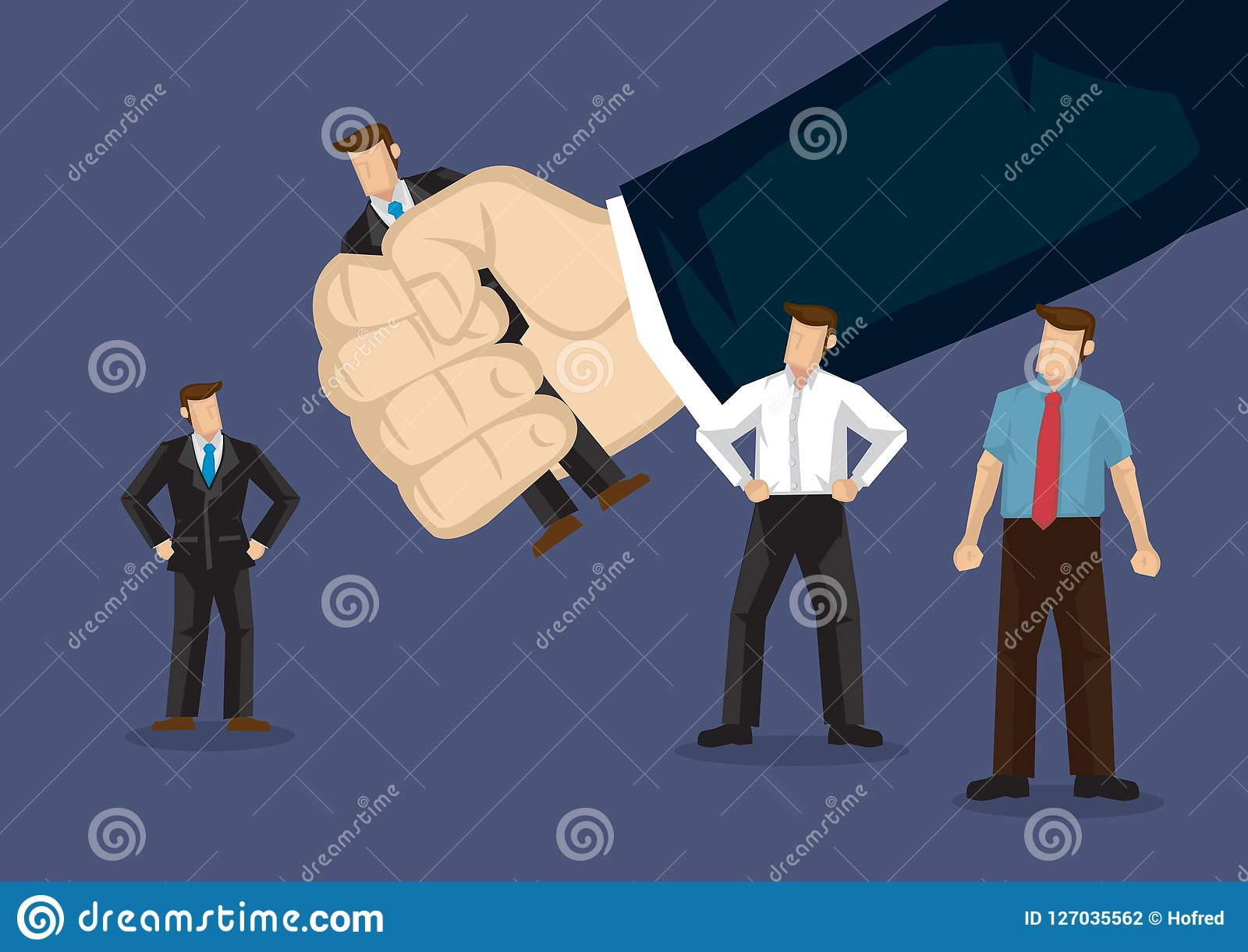 Handpicked Business Professional Cartoon Vector Illustration