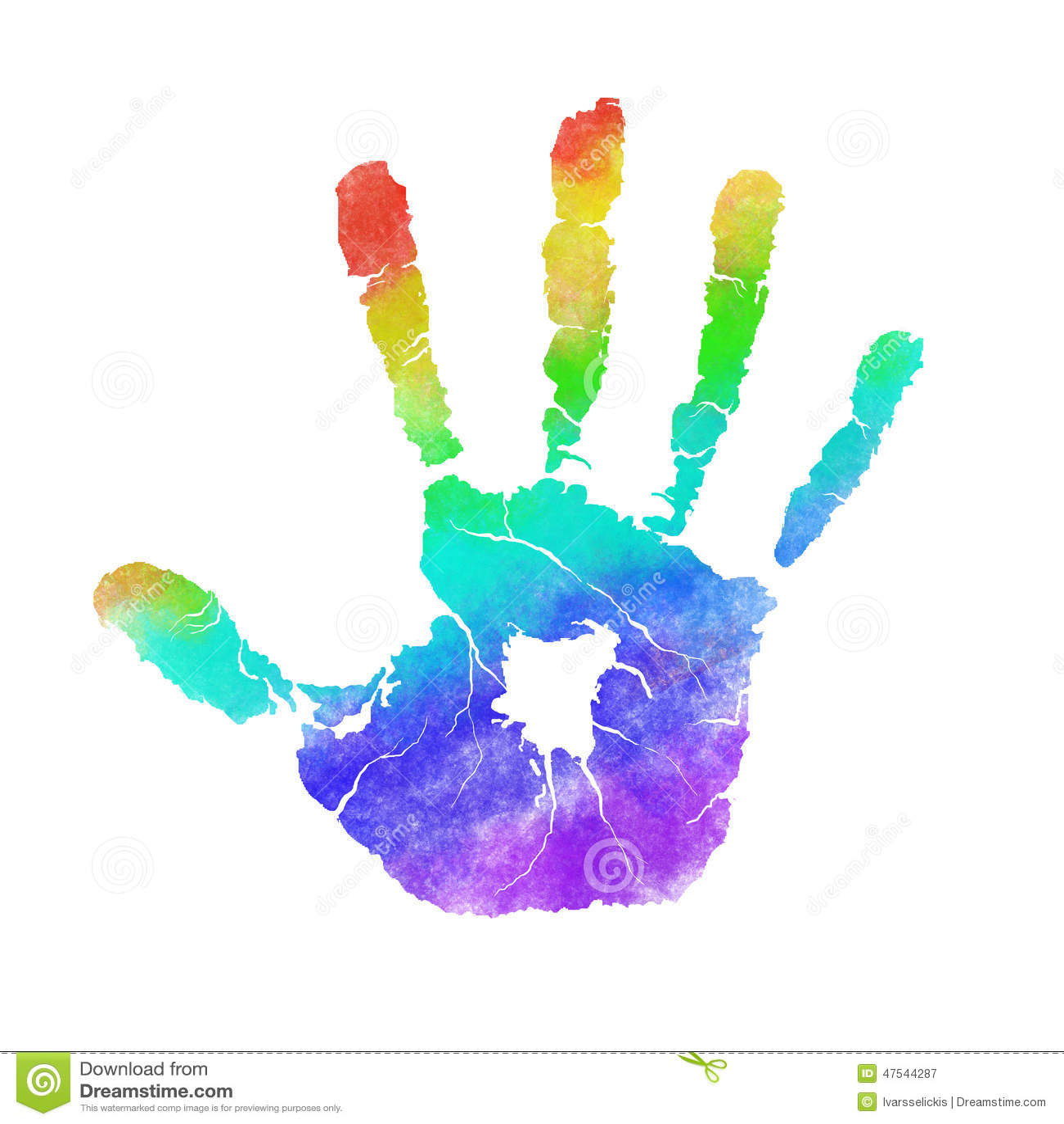 Handprint stock illustration. Illustration of daycare ...