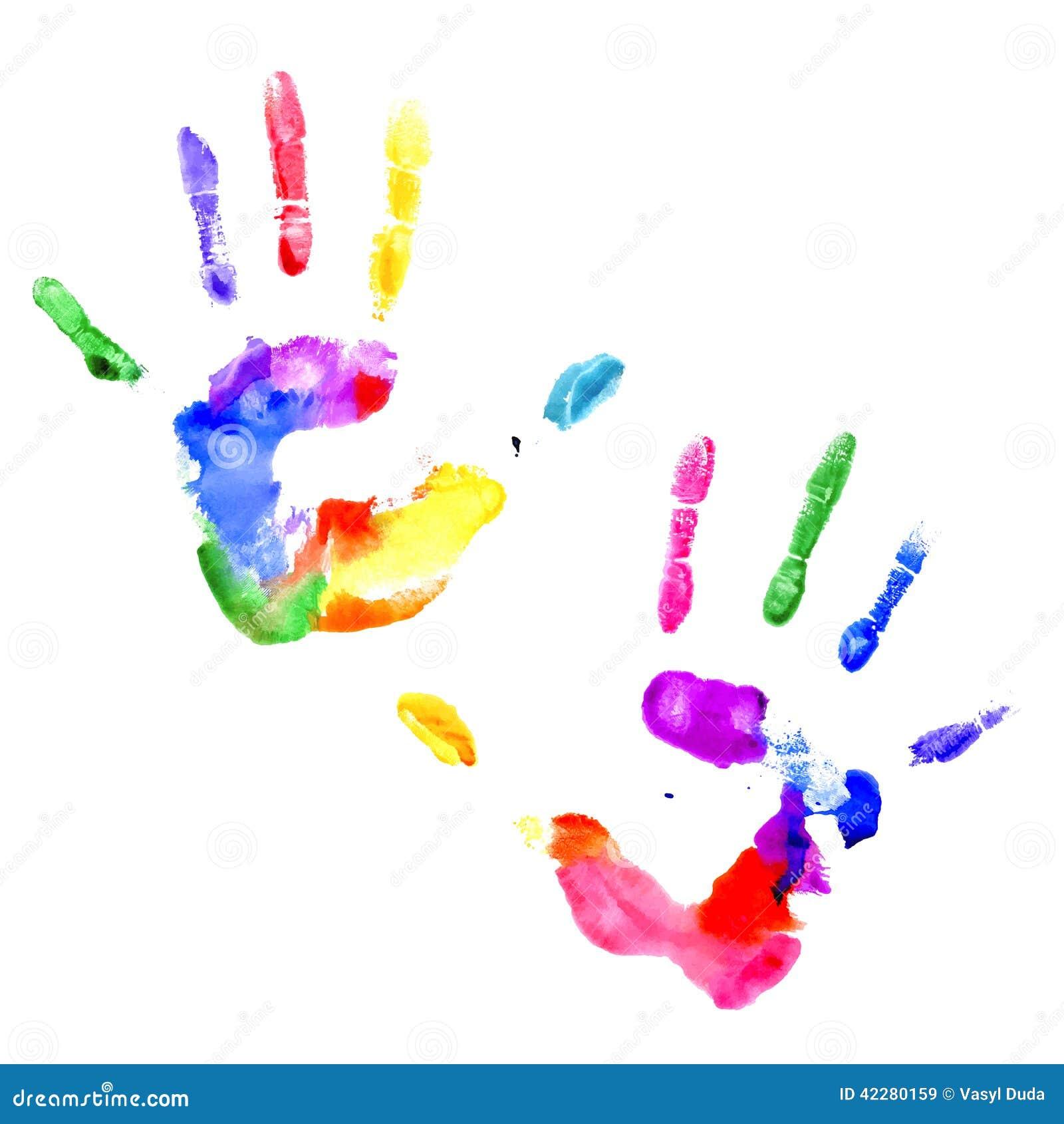 Handprint In Vibrant C...