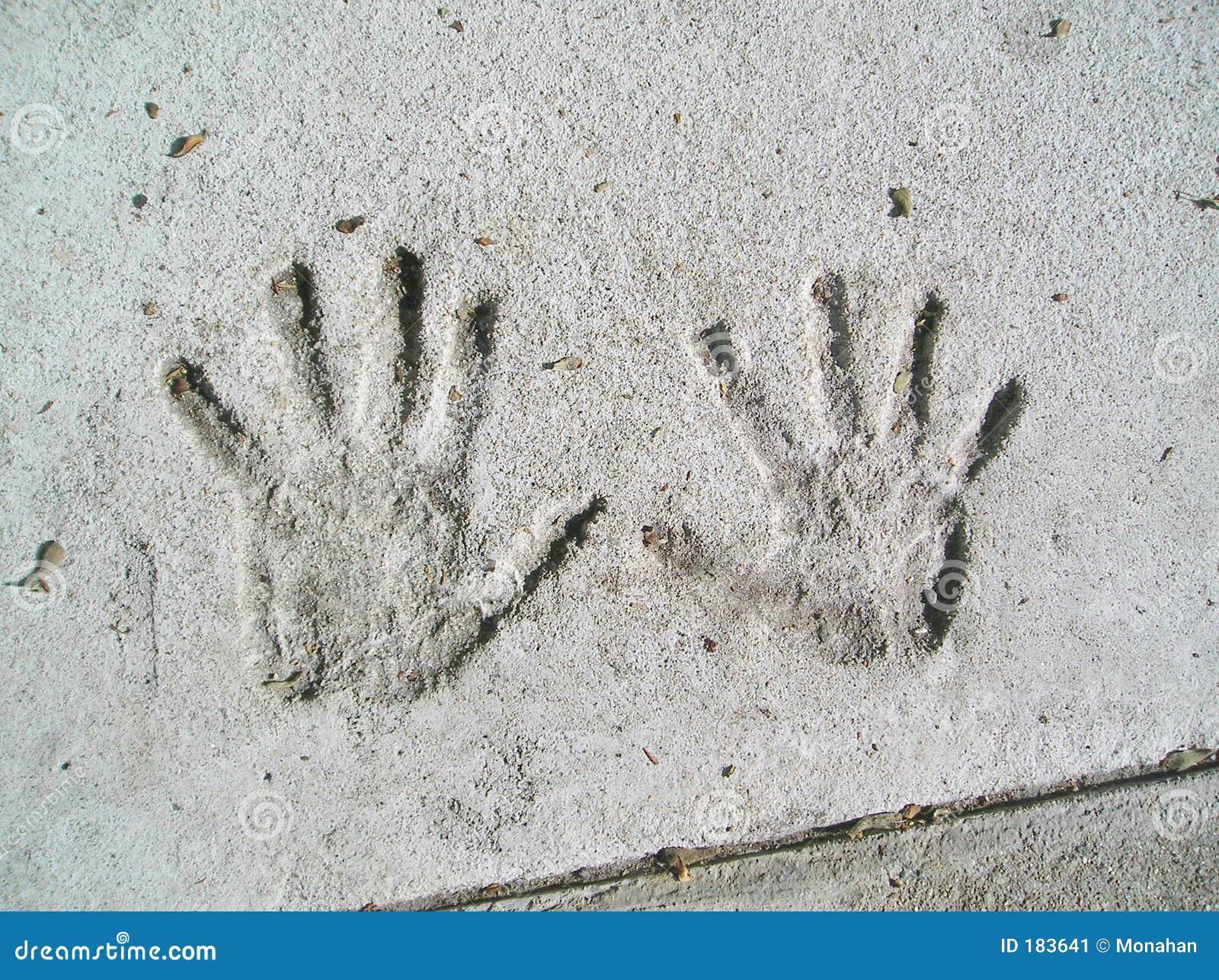 Handprints en colle