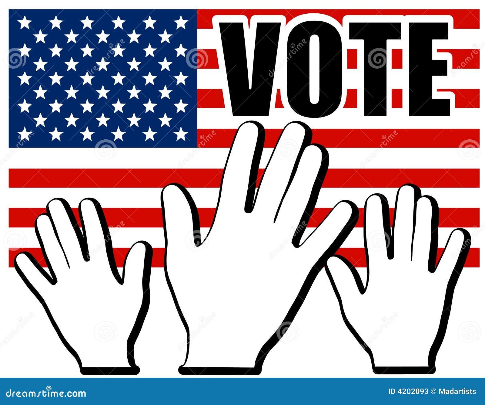 cb22d983846e Hands Of America US Vote Flag Stock Illustration - Illustration of ...