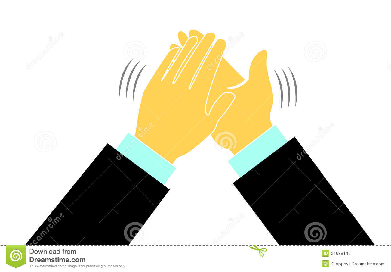 Hands in a applause or clapping illustration background.