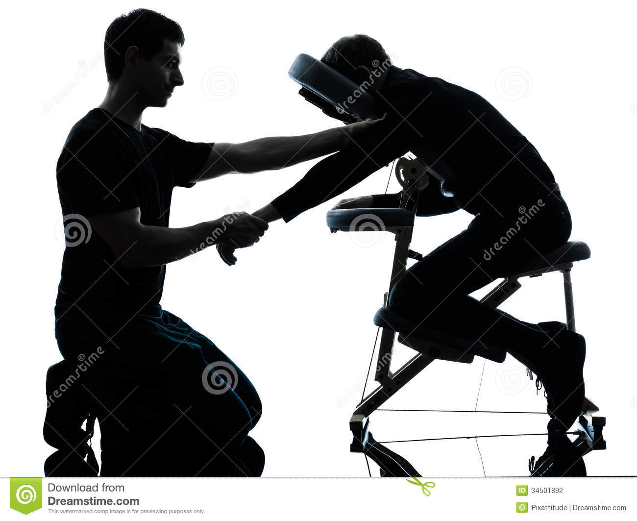 Chair massage therapy - Background Chair Massage Men Silhouette Studio Therapy