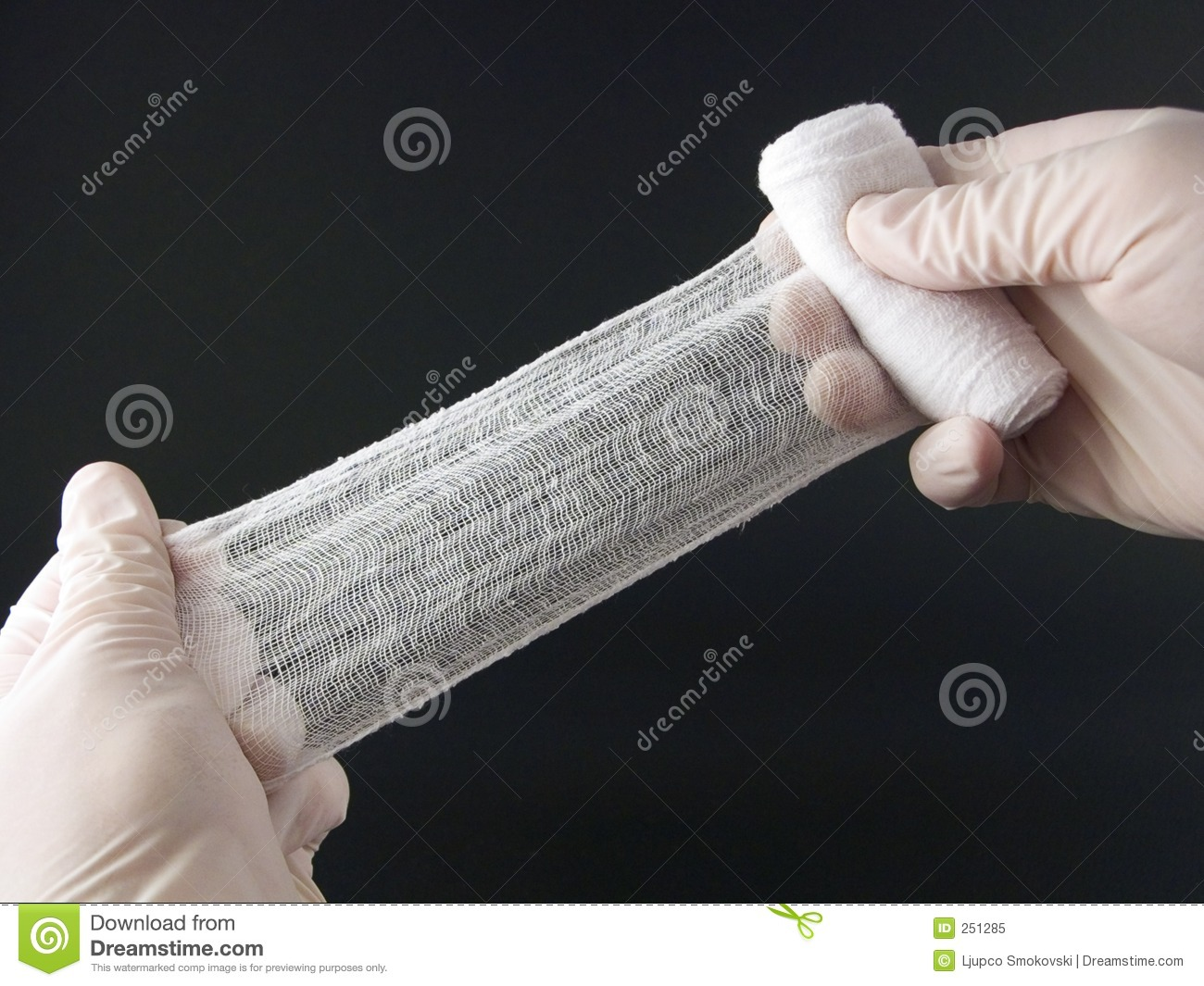 Hands with bandage