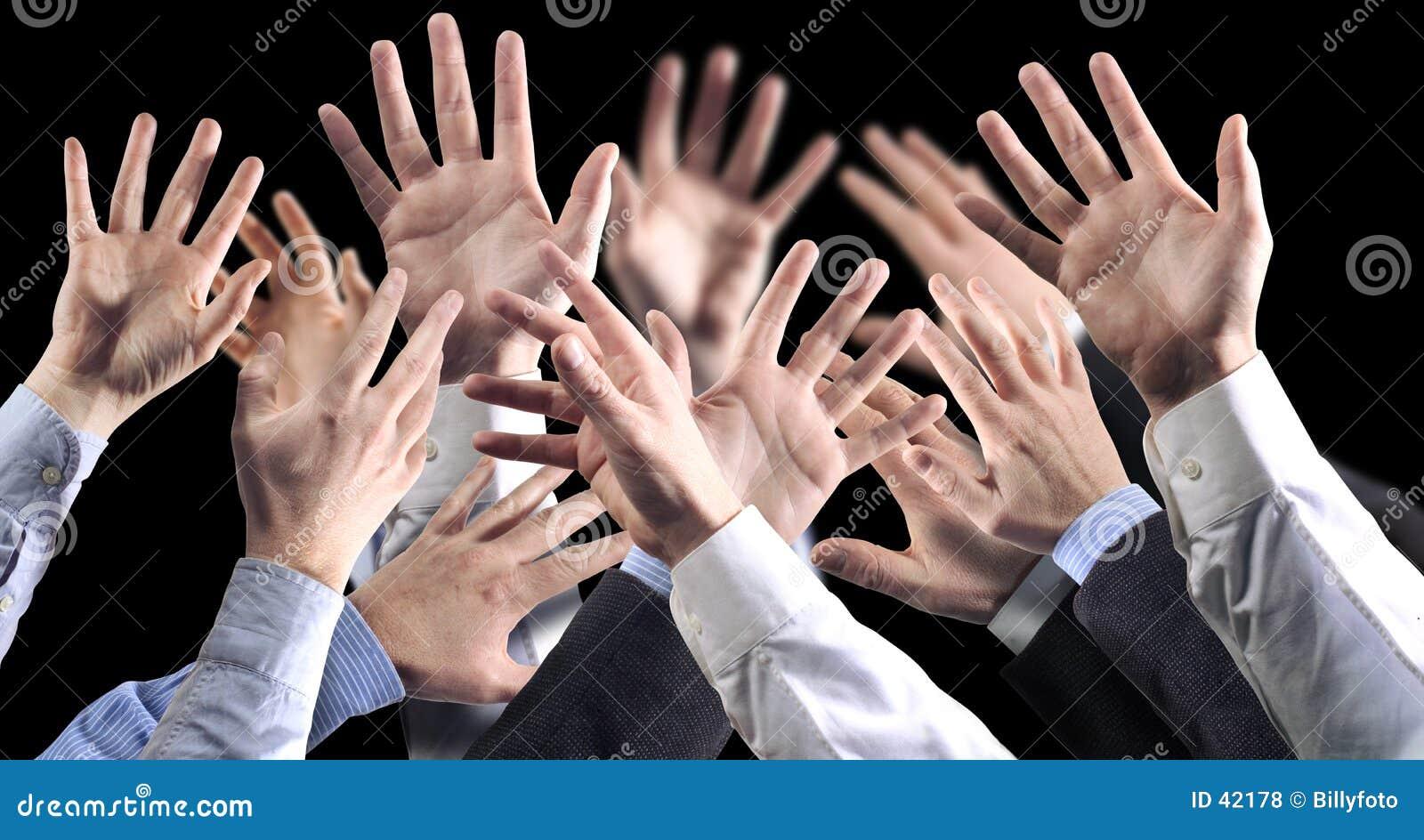 Hands black bground