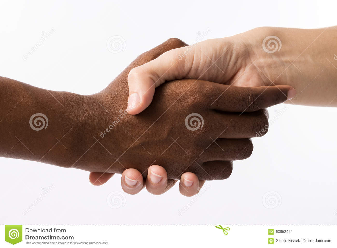 Hands Of Black And White People Stock Photo - Image of ...