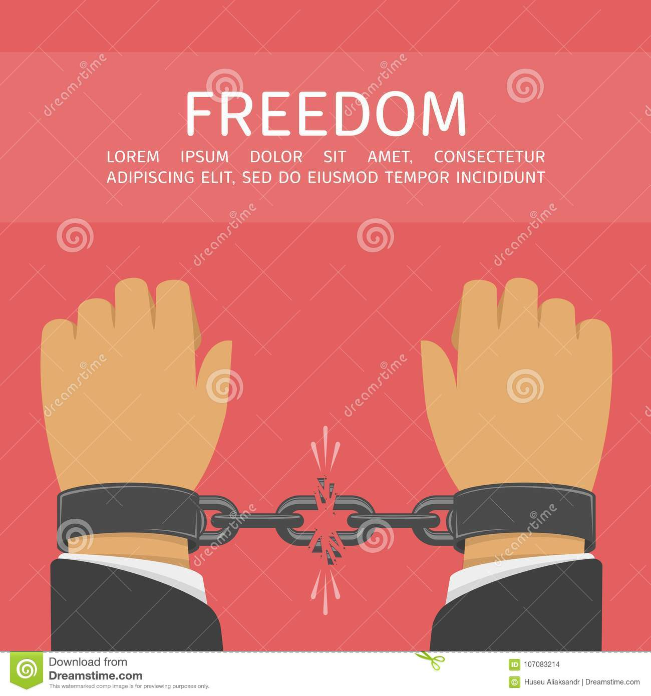 Download Hands With Broken Chain Stock Vector Illustration Of Freedom