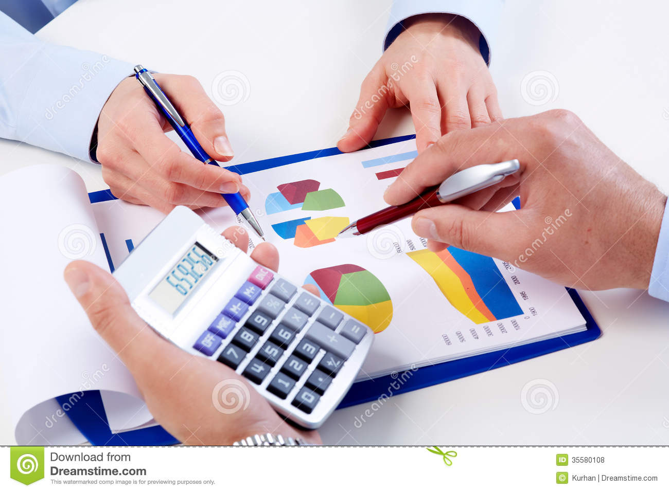 Hands Of Business People With Calculator. Royalty Free Stock Photos ...