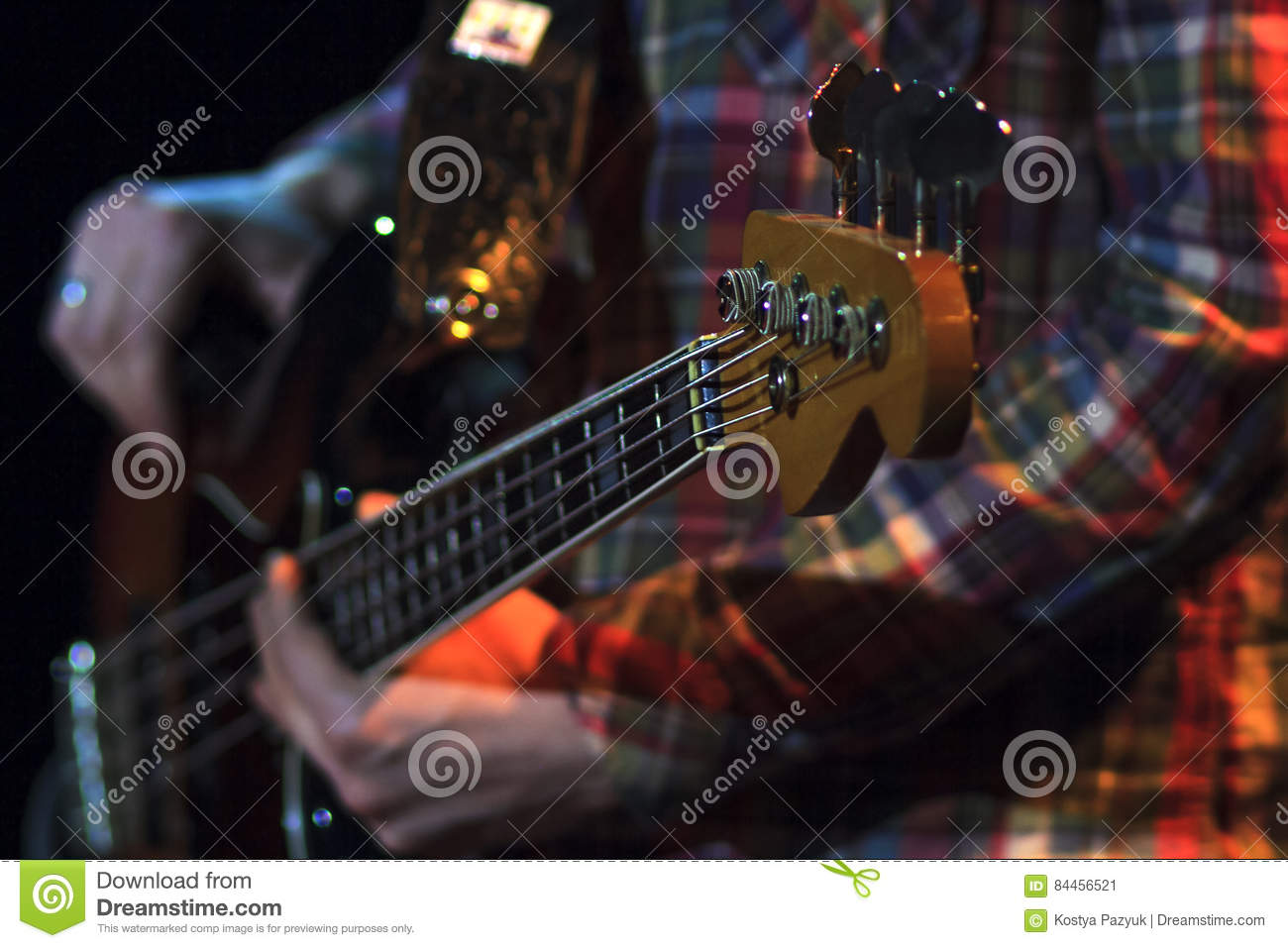 Hands Are Chords Bass Stock Image Image Of People Melody 84456521