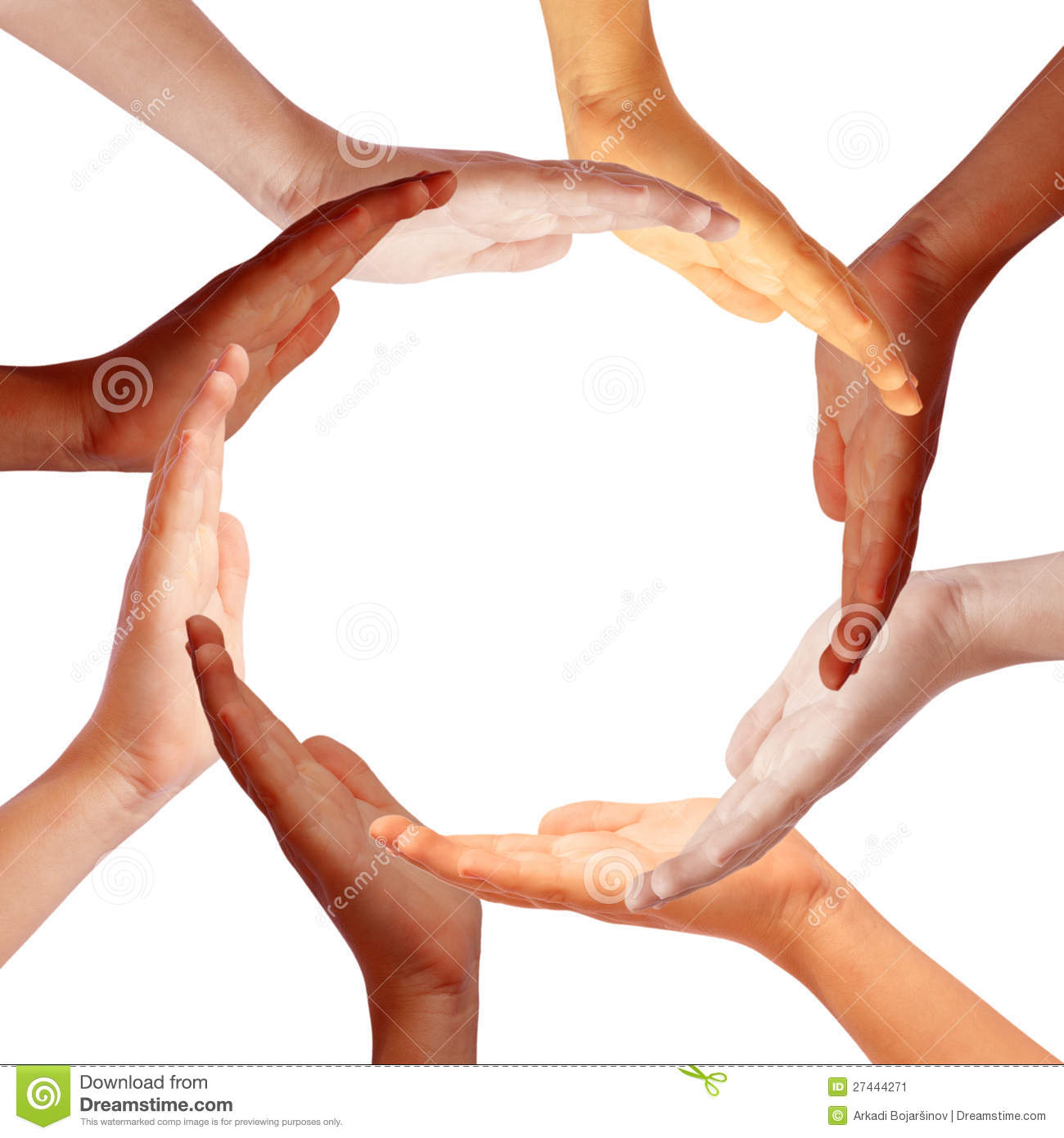 More similar sto...A Circle Of Hands Clipart