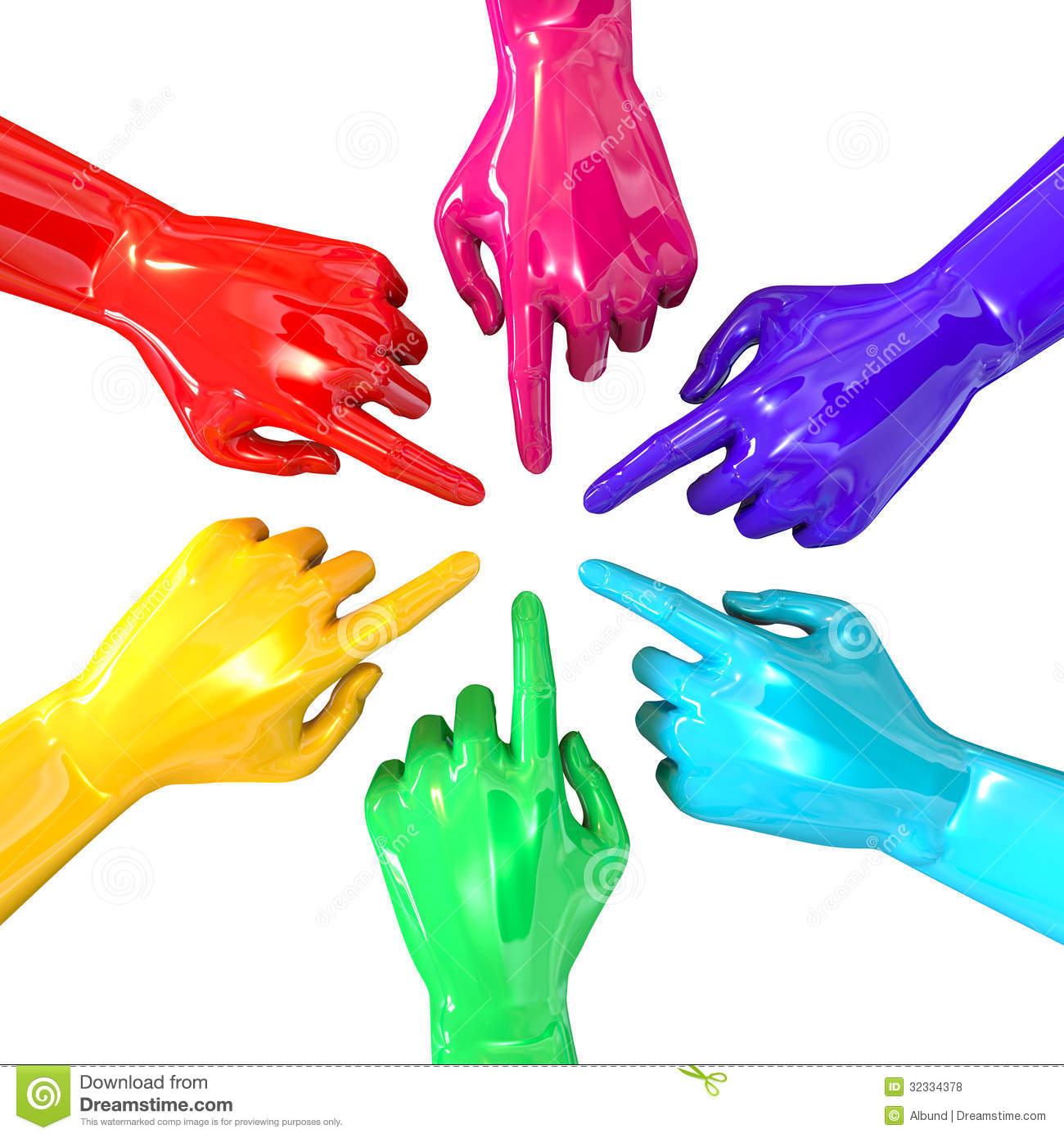 Colorful christmas tree of hands royalty free stock photos image - Hands Colorful Circle Pointing Inward Top Royalty Free