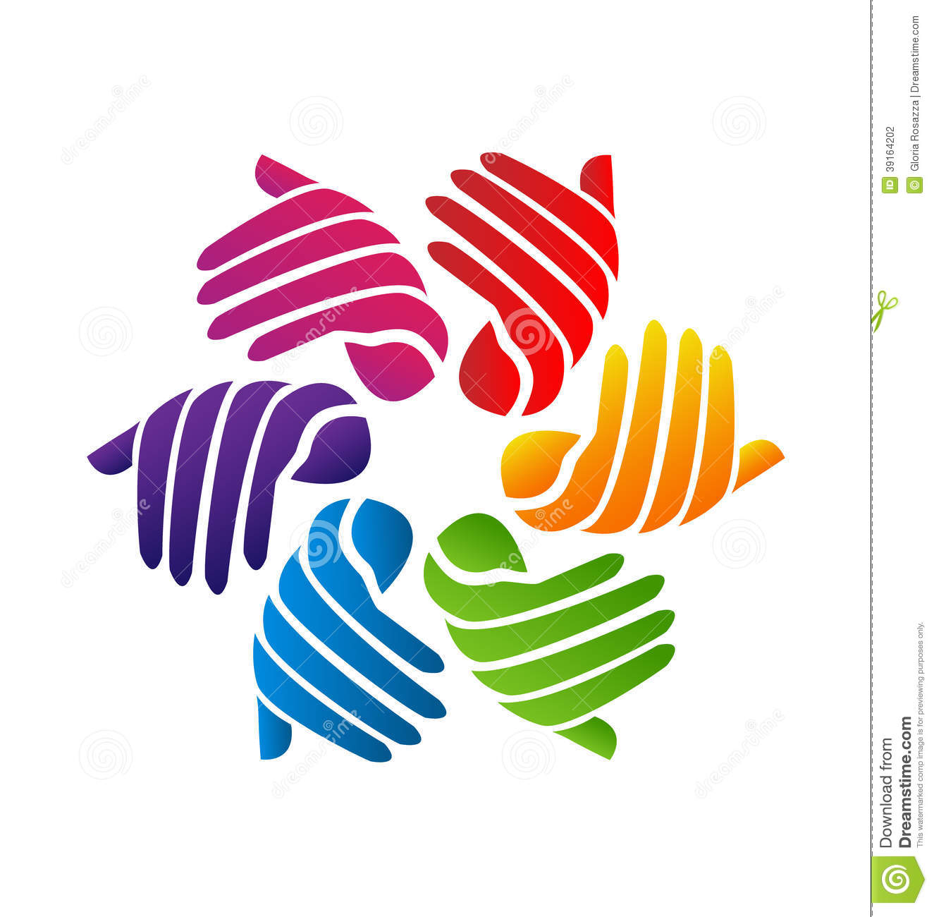 Hands Colorful Logo Stock Vector - Image: 39164202
