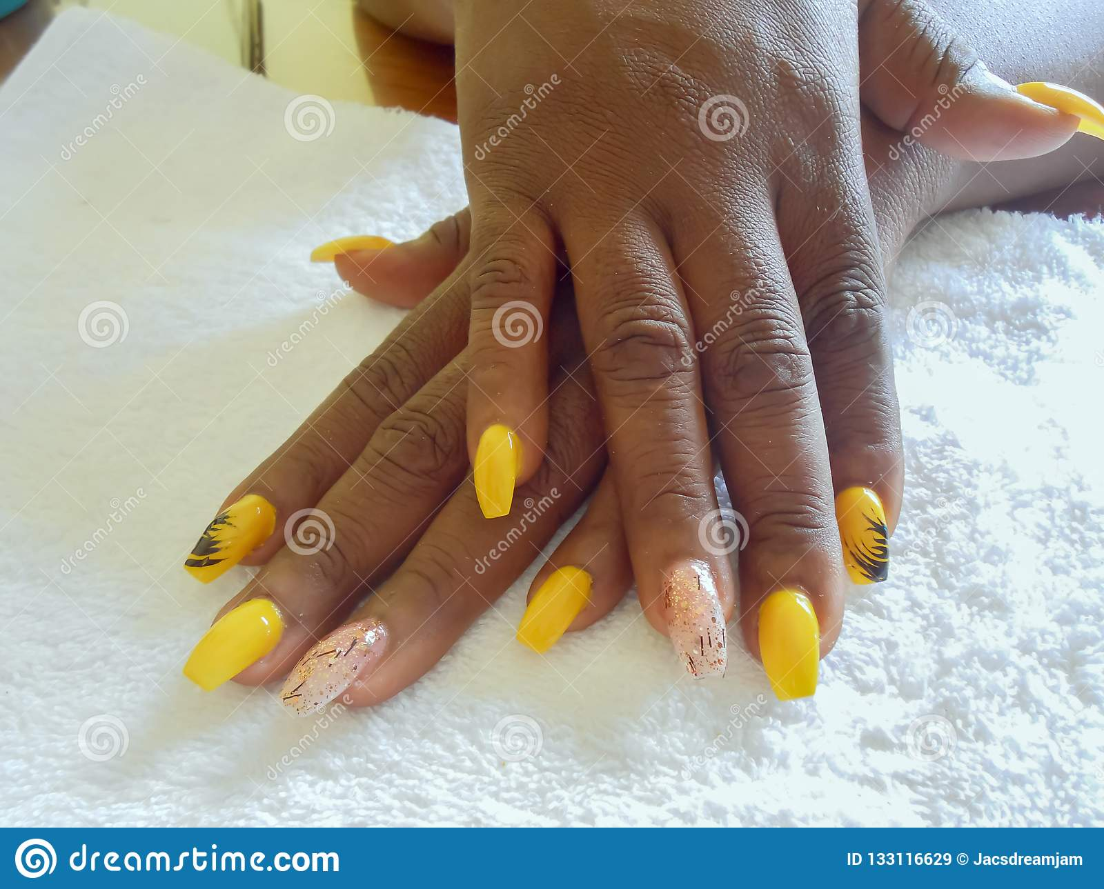 Polished Nail Extention On Display