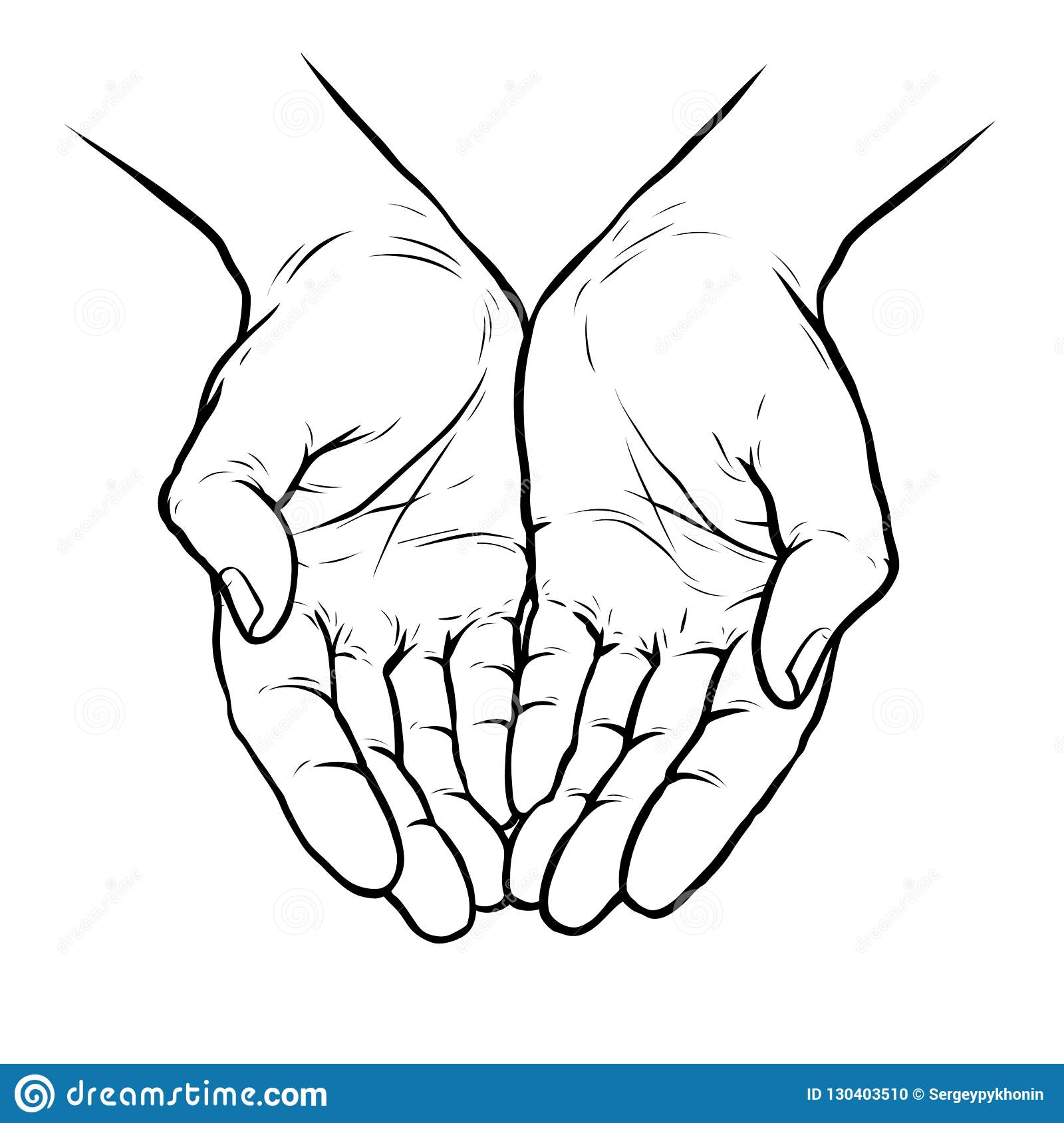 Hands Cupped Stock Illustrations – 633 Hands Cupped Stock ...