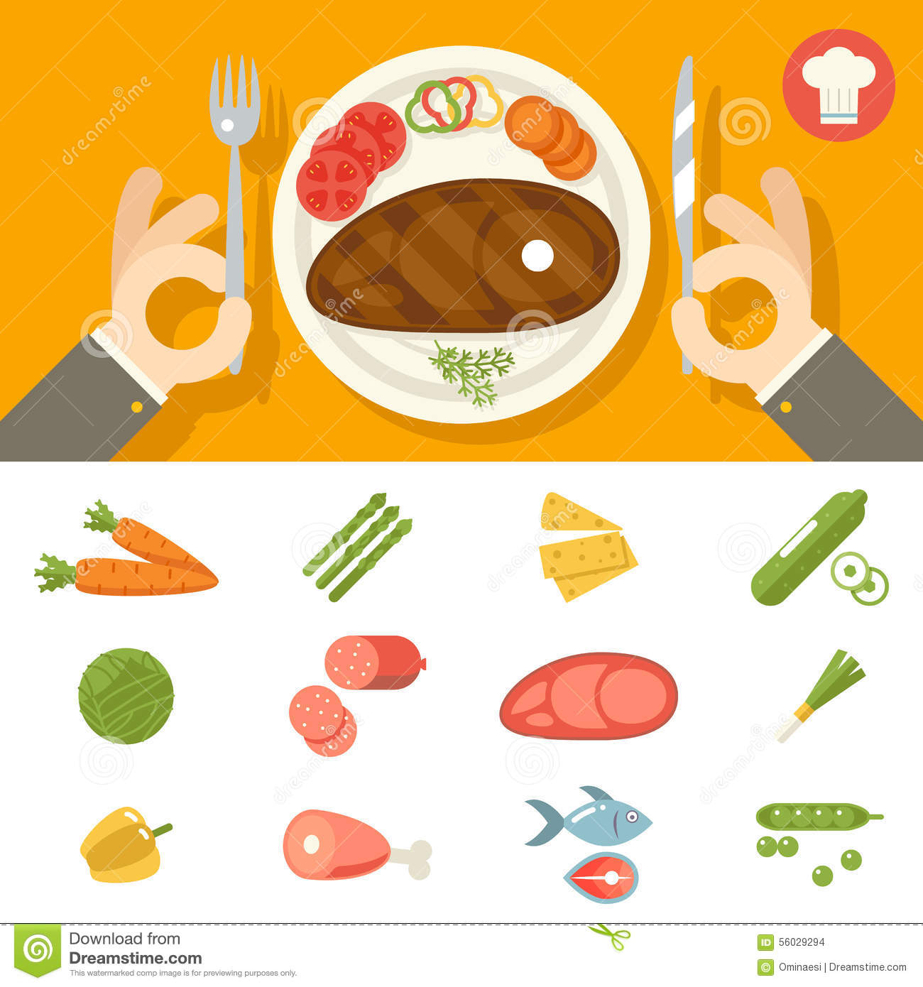 hands cutlery plate food icon set restaurant stock vector farm tractor clip art free farm tractor clipart free