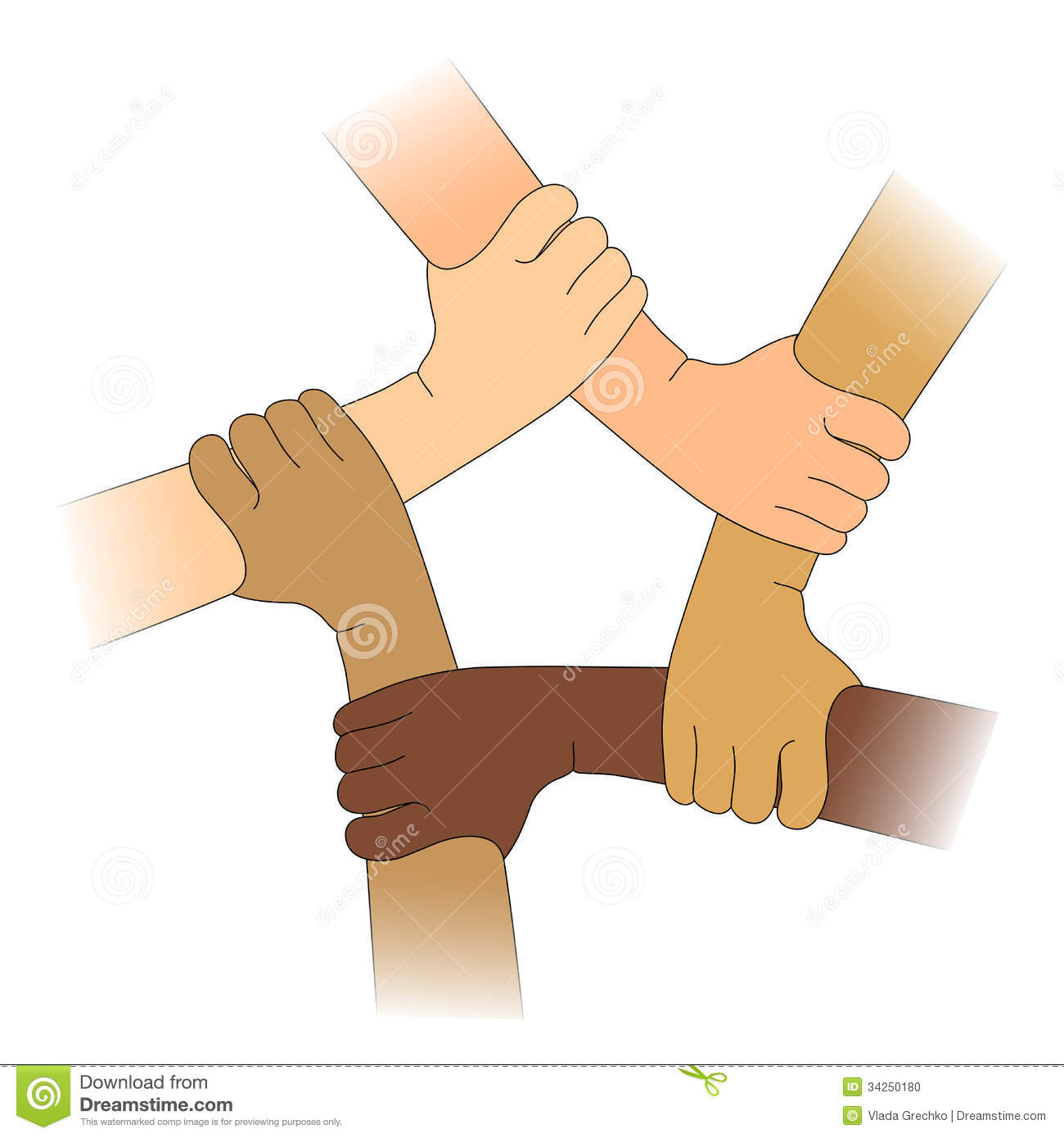 Hands Of Different Races Stock Photo  Image: 34250180