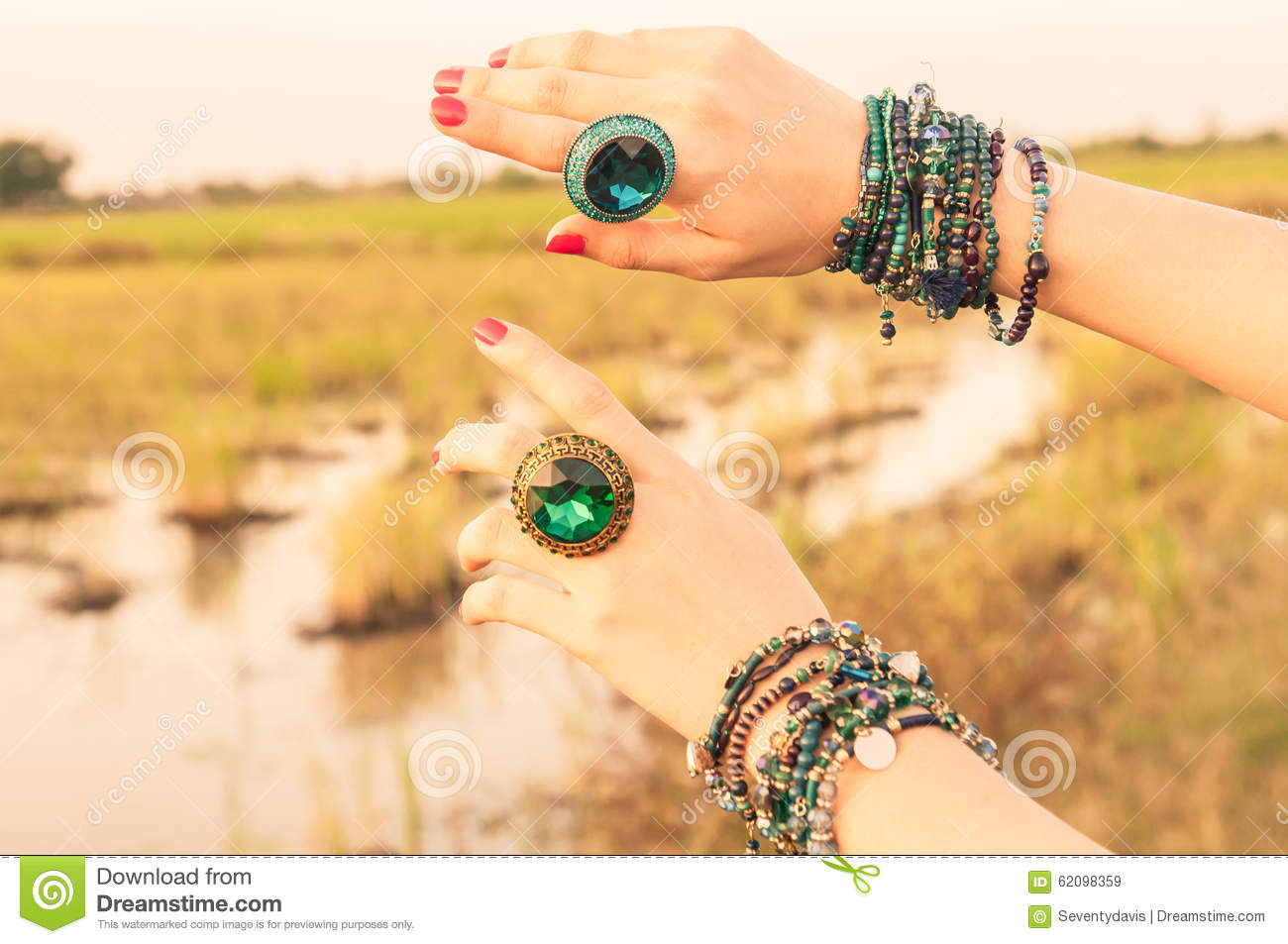 Hands female with jewelry stock image. Image of manicure - 62098359