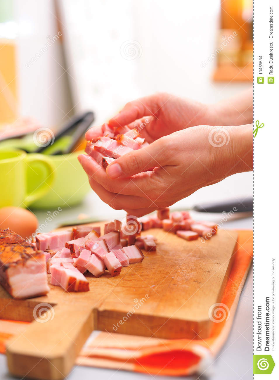 Hands With Food Stock Images - Image: 13465584
