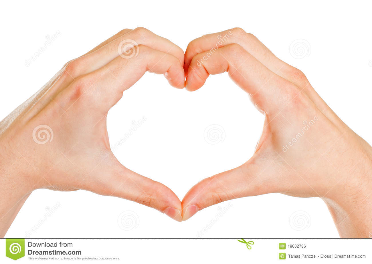 Hands Forming A Heart Royalty Free Stock Image - Image: 18602786